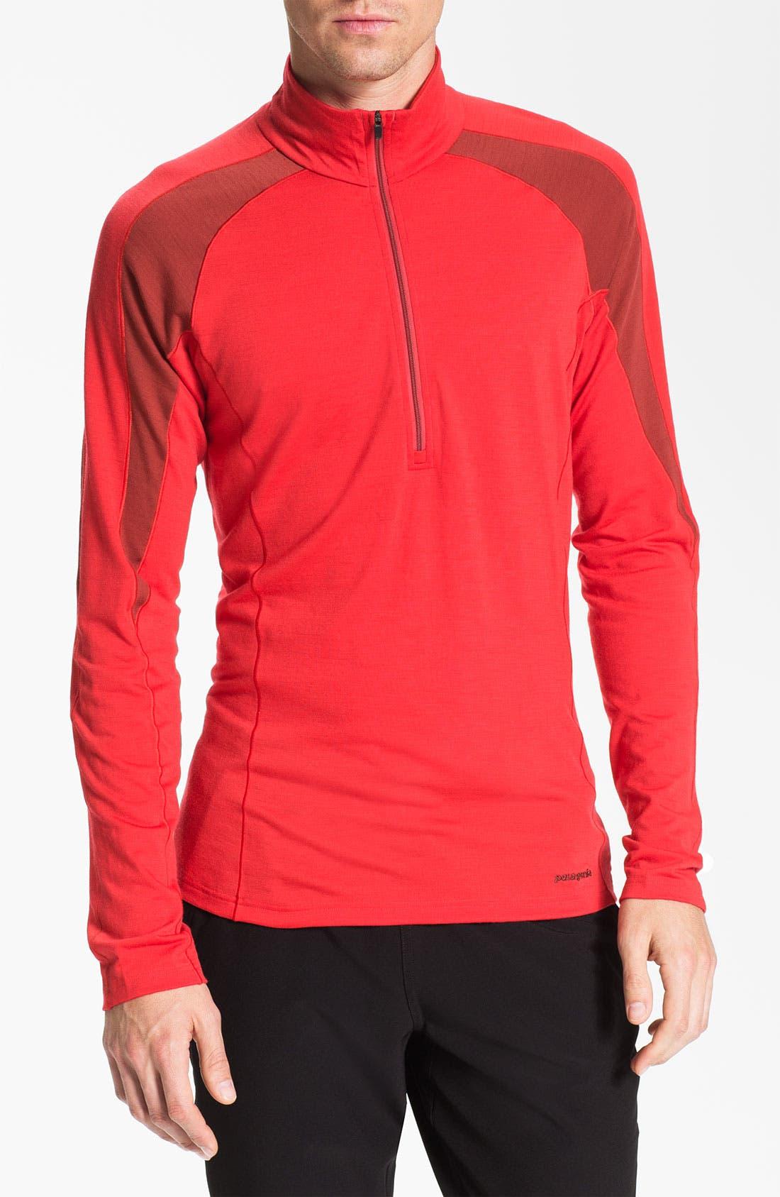Alternate Image 1 Selected - Patagonia 'Merino® 2' Half Zip Long Sleeve T-Shirt (Online Only)