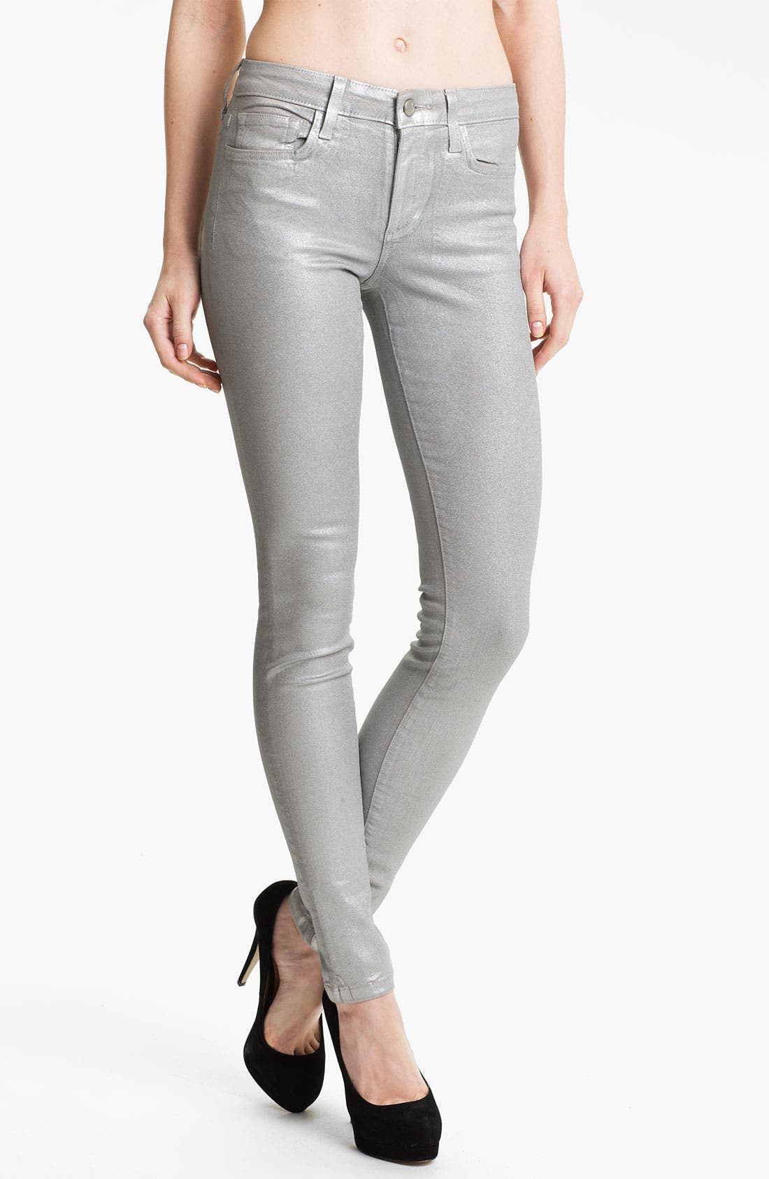 Main Image - Joe's Coated Skinny Stretch Jeans (Silver Rock)