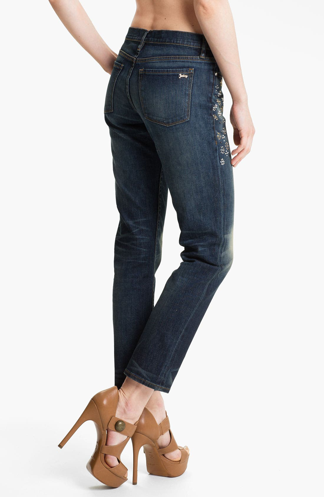 Alternate Image 2  - Juicy Couture 'Straight Slouchy' Embellished Jeans (Bleeker)