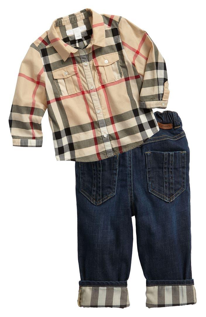 Burberry Shirt & Jeans (Infant)   Nordstrom