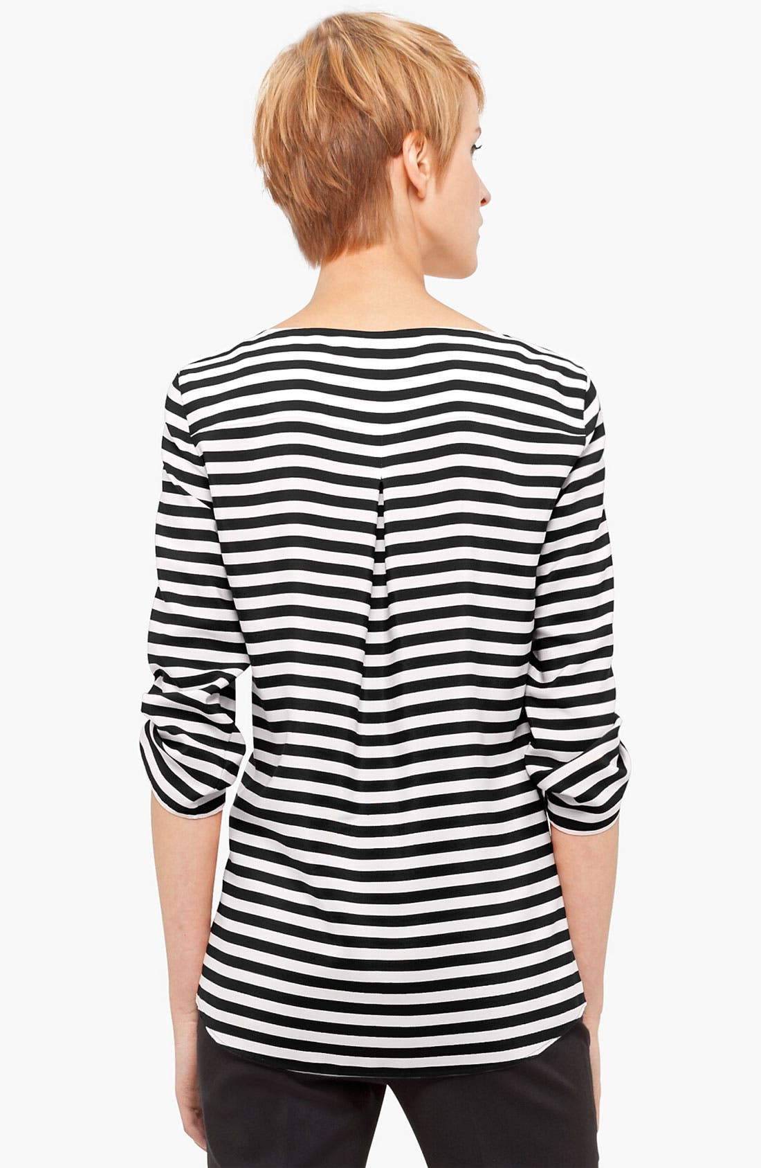 Alternate Image 2  - Akris punto Stripe Silk Blouse