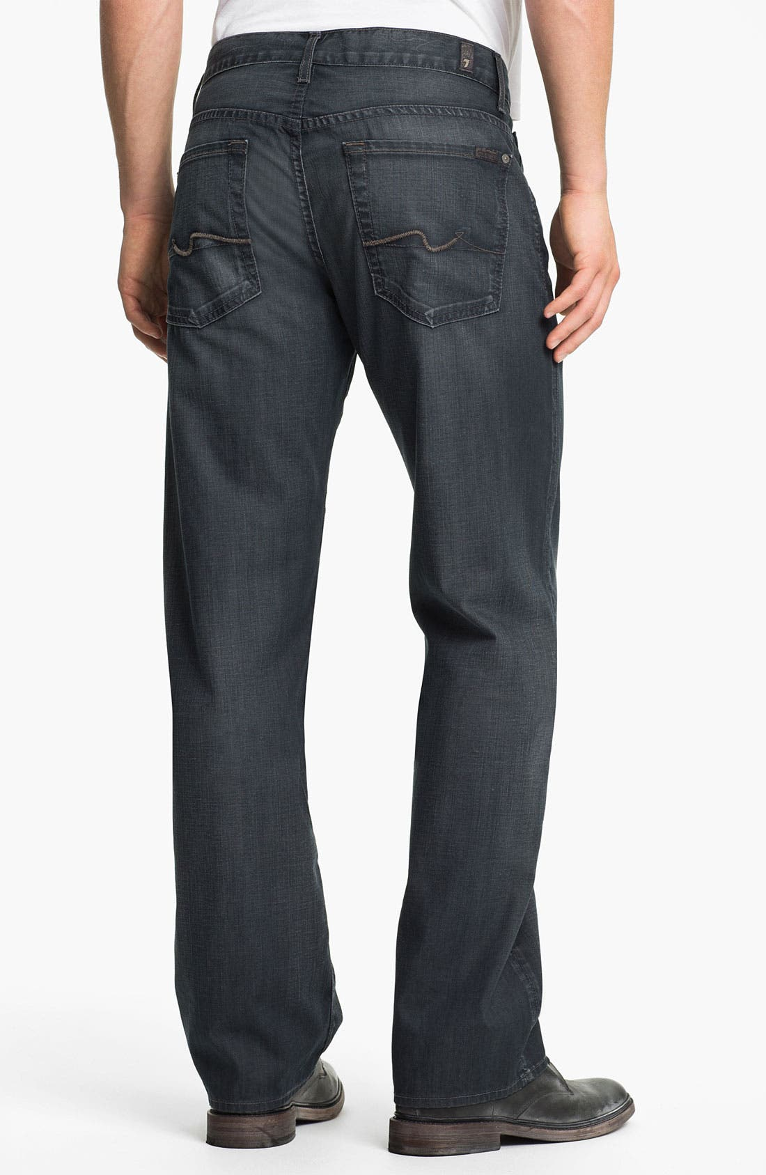 Alternate Image 2  - 7 For All Mankind® 'Austyn' Straight Leg Jeans (New Grey Shade)