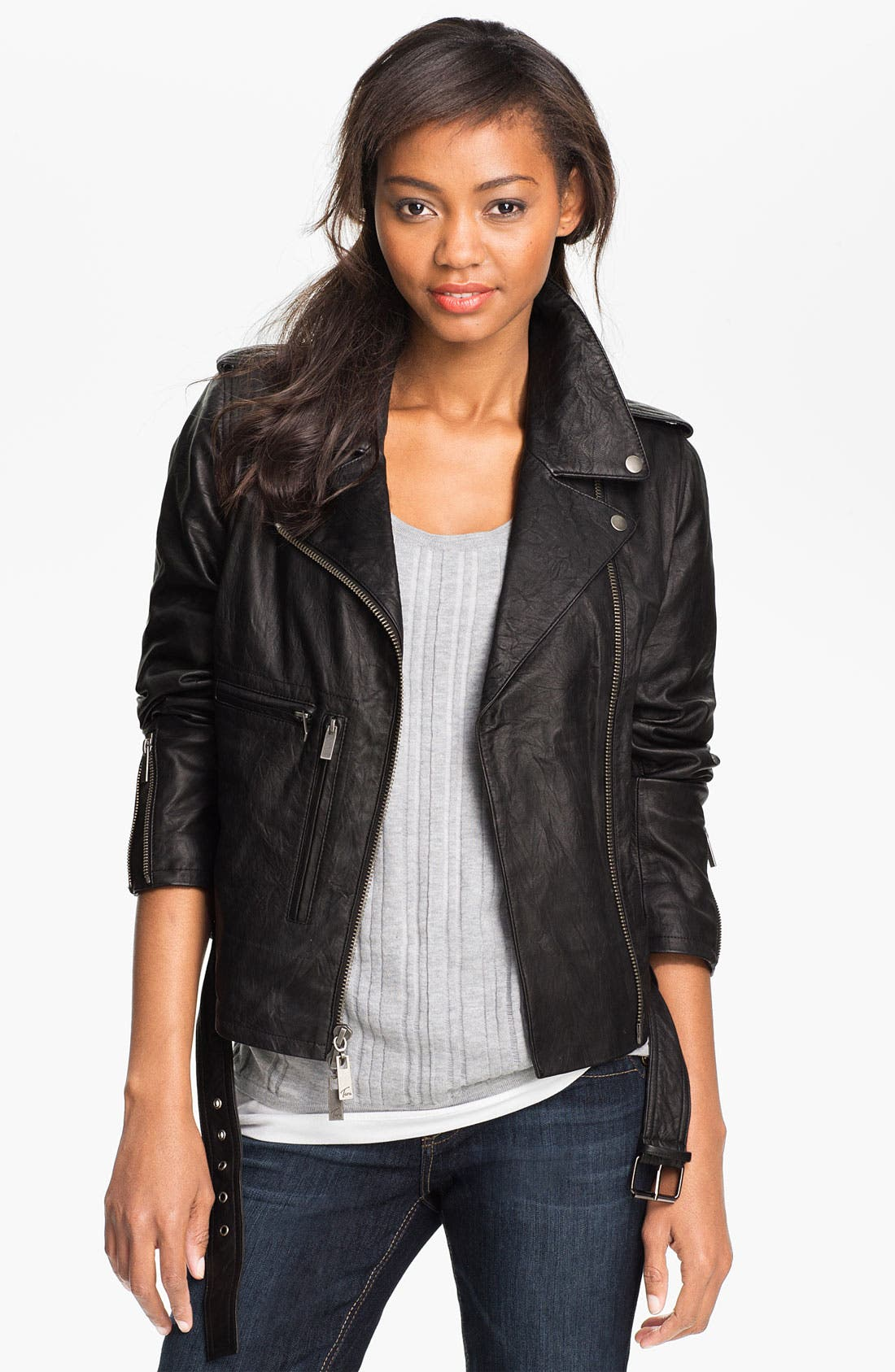 Main Image - Two by Vince Camuto Leather Jacket