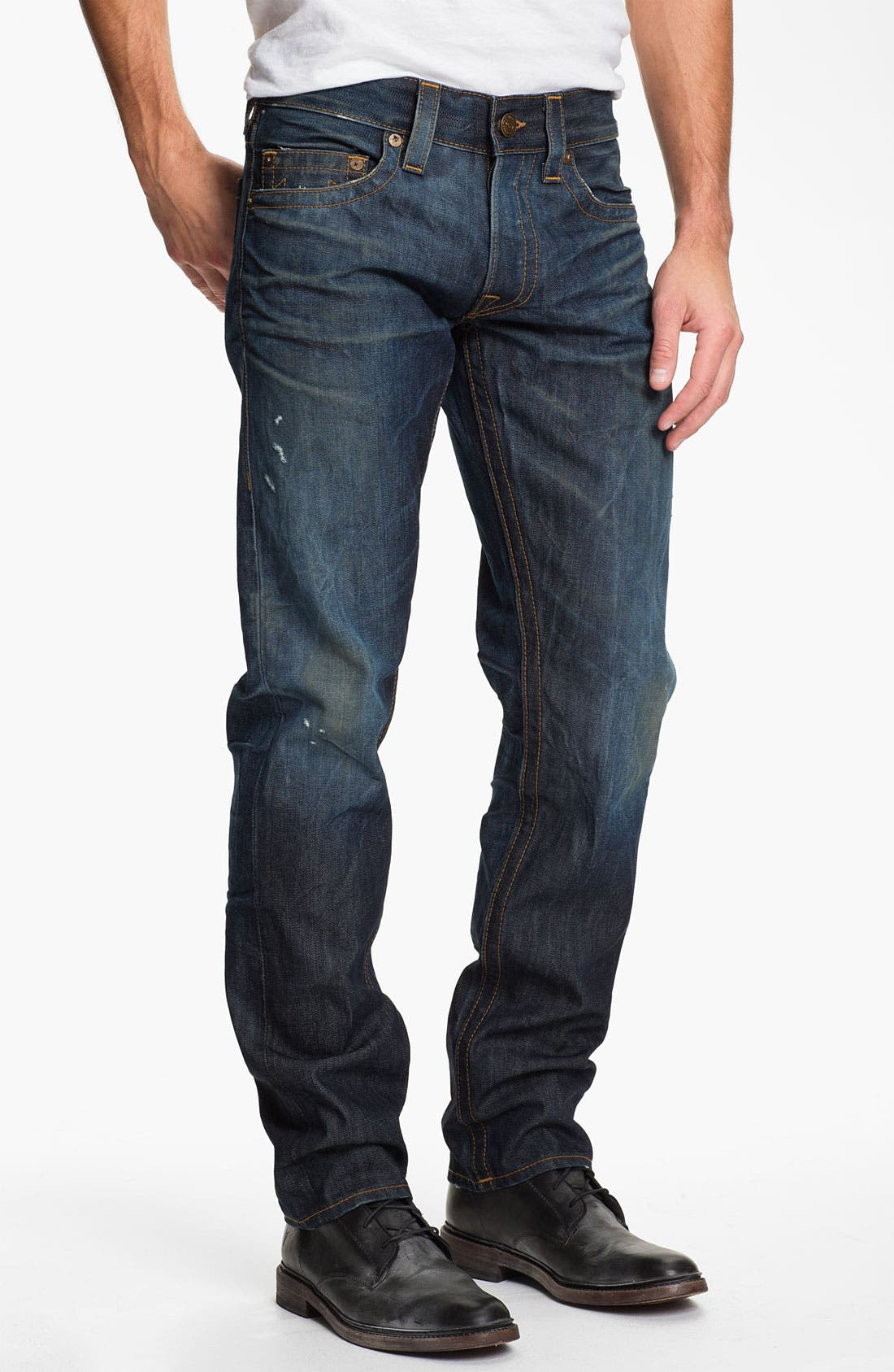 Alternate Image 2  - True Religion Brand Jeans 'Geno' Slim Straight Leg Jeans (Hideout)