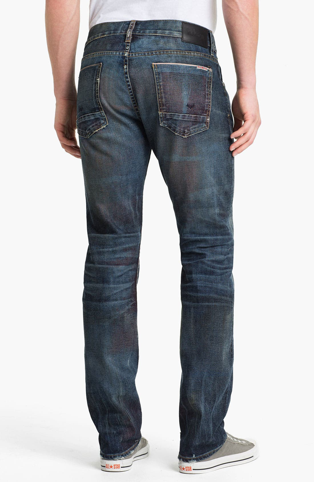 Main Image - Hudson 'Byron - 10th Anniversary Limited Edition' Selvedge Straight Leg Jeans (Royalty) (Nordstrom Exclusive)
