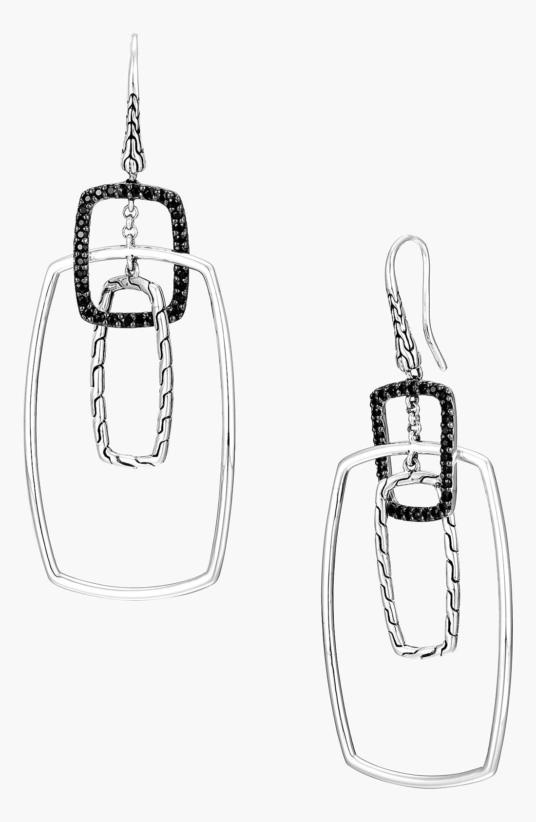 Alternate Image 1 Selected - John Hardy 'Classic Chain' Rectangular Drop Earrings