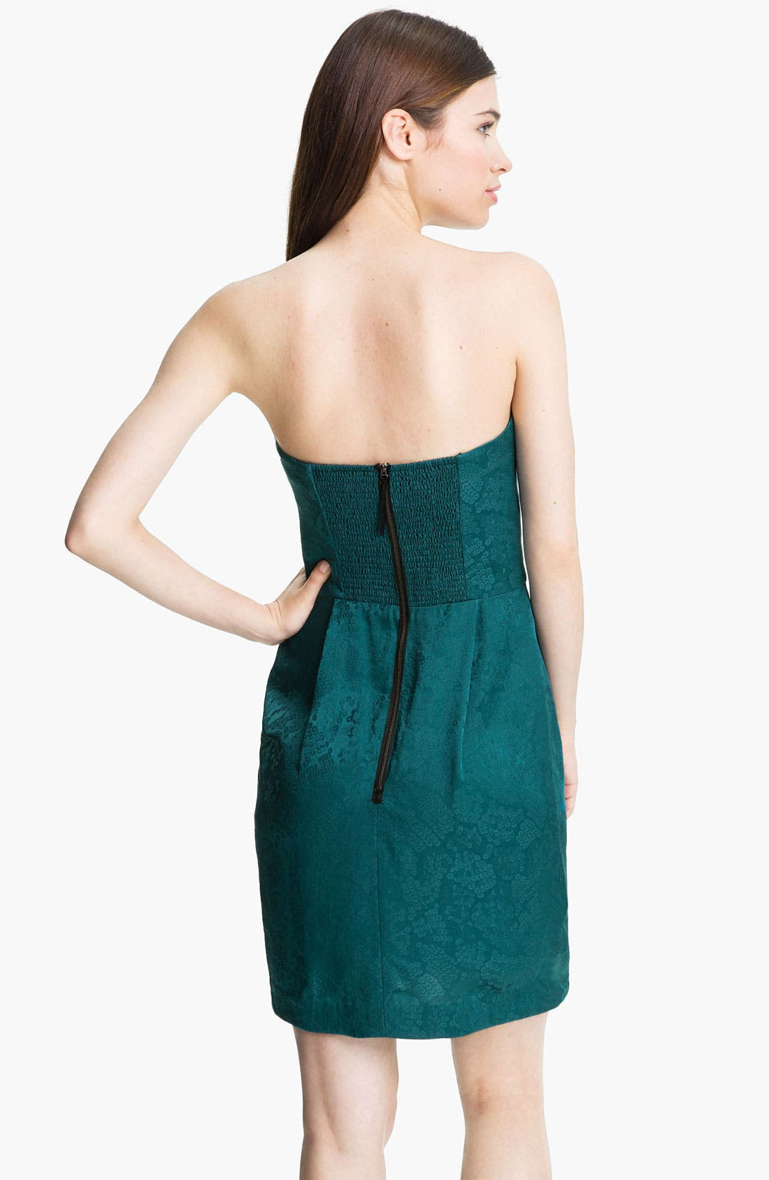 Alternate Image 2  - Rebecca Taylor Jacquard Silk Sheath Dress