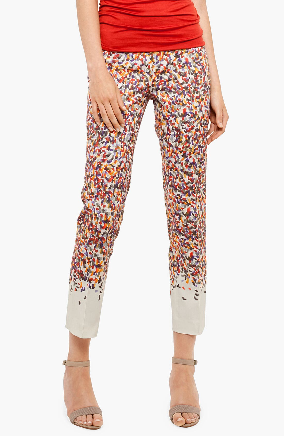 Alternate Image 1 Selected - Akris punto 'Franca' Confetti Print Crop Pants