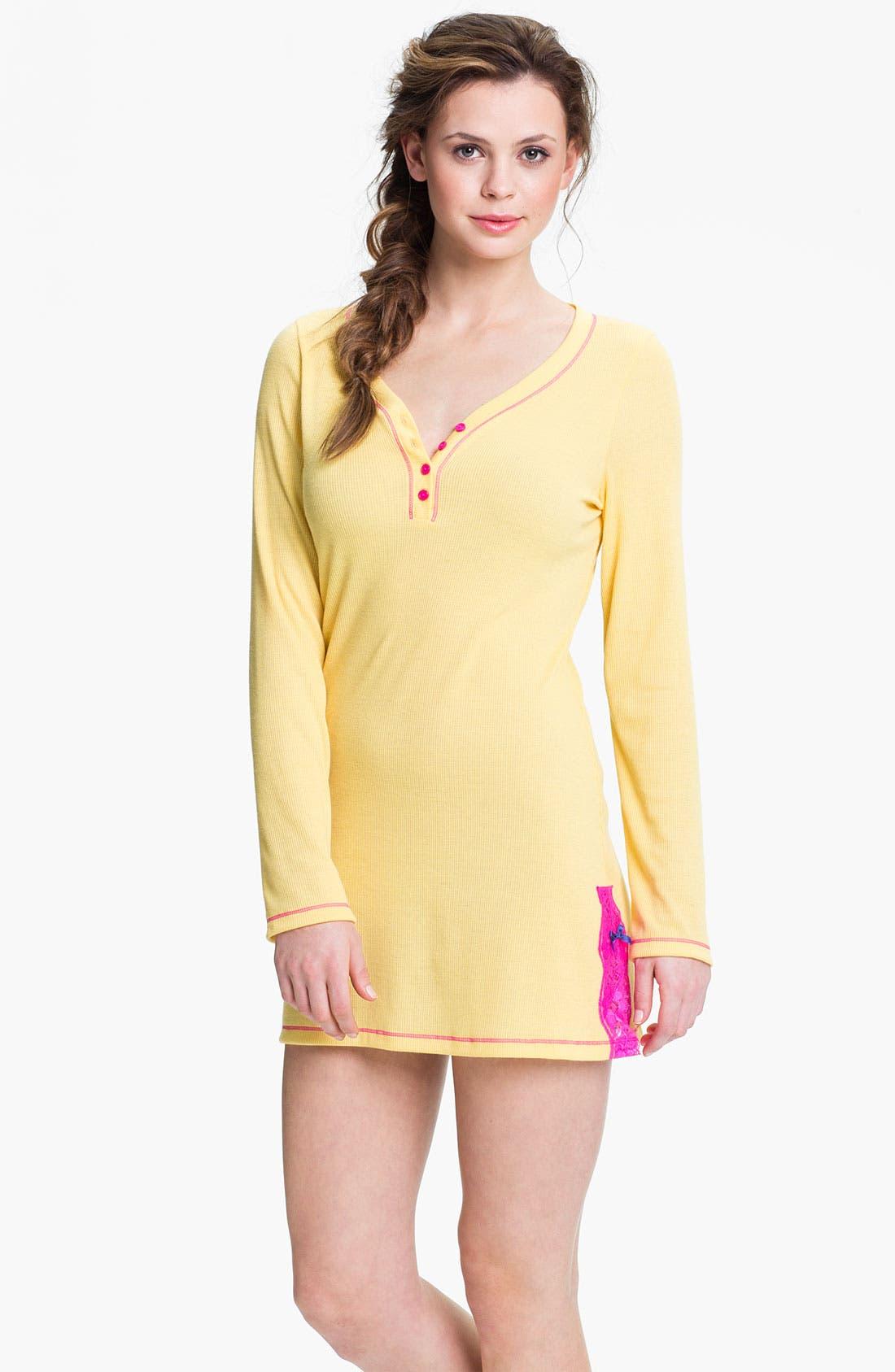 Alternate Image 1 Selected - Honeydew Intimates 'Love Me Tender' Lace Detail Sleep Shirt