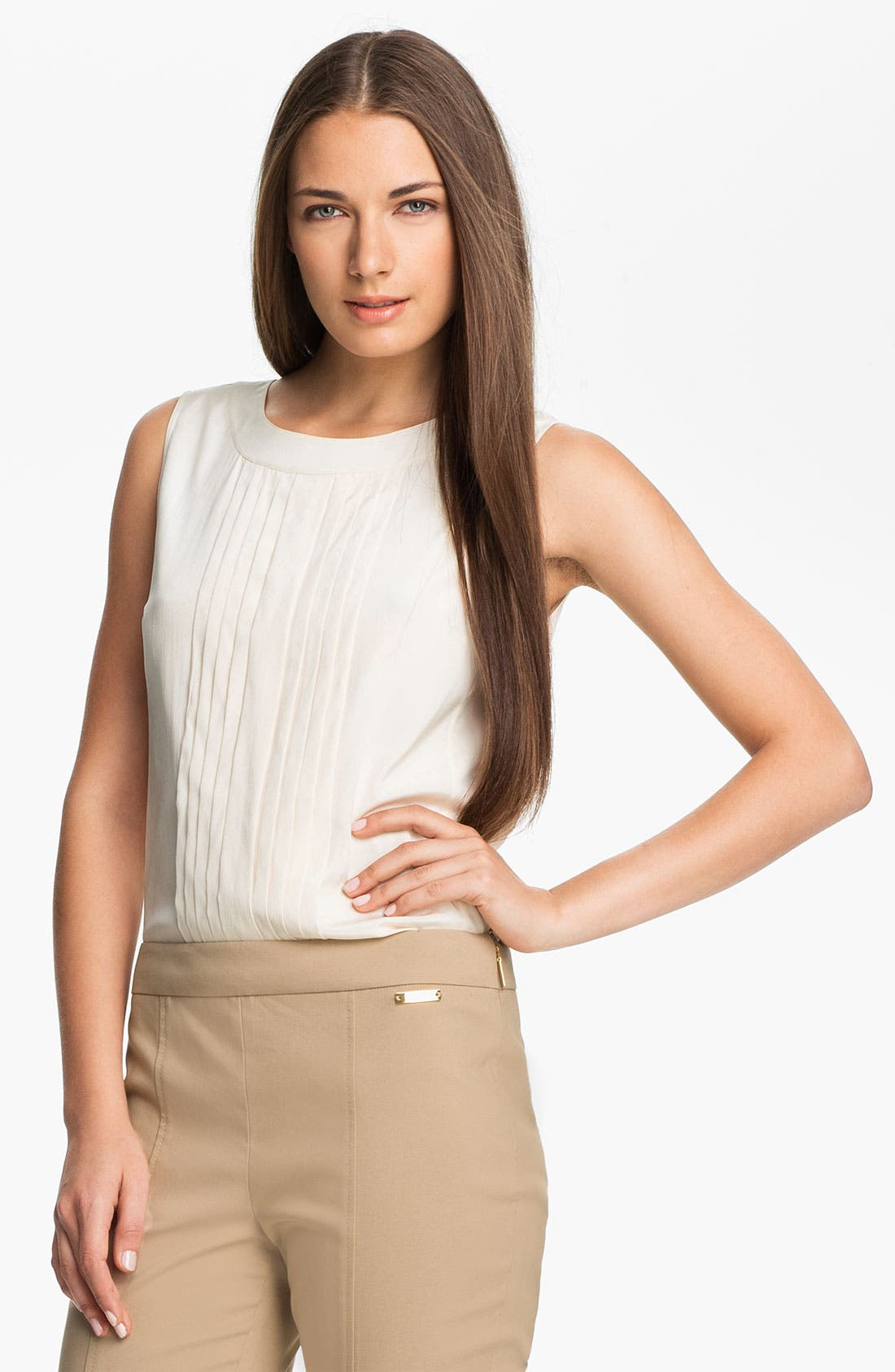 Alternate Image 1 Selected - Tory Burch 'April' Stretch Silk Top