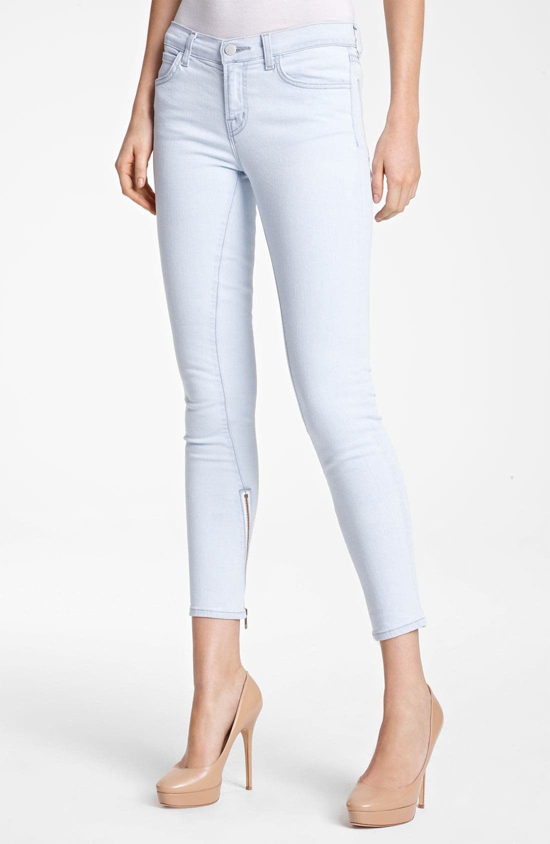 Alternate Image 1 Selected - J Brand + Christopher Kane Skinny Stretch Jeans
