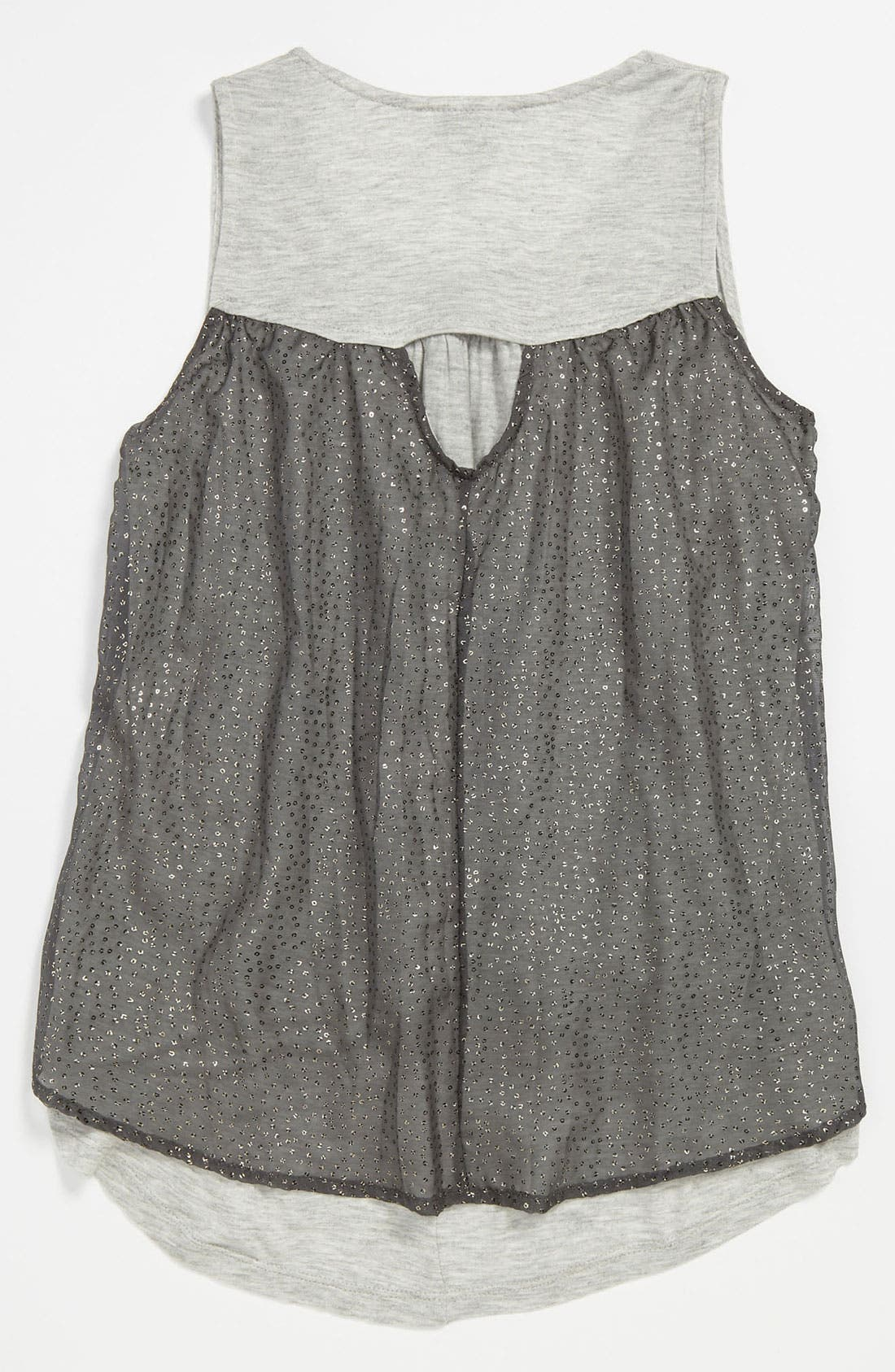 Alternate Image 2  - Mia Chica Chiffon Tank Top (Big Girls)