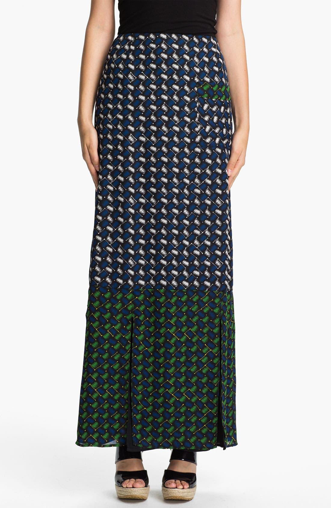 Alternate Image 1 Selected - KENZO Basket Weave Print Maxi Skirt