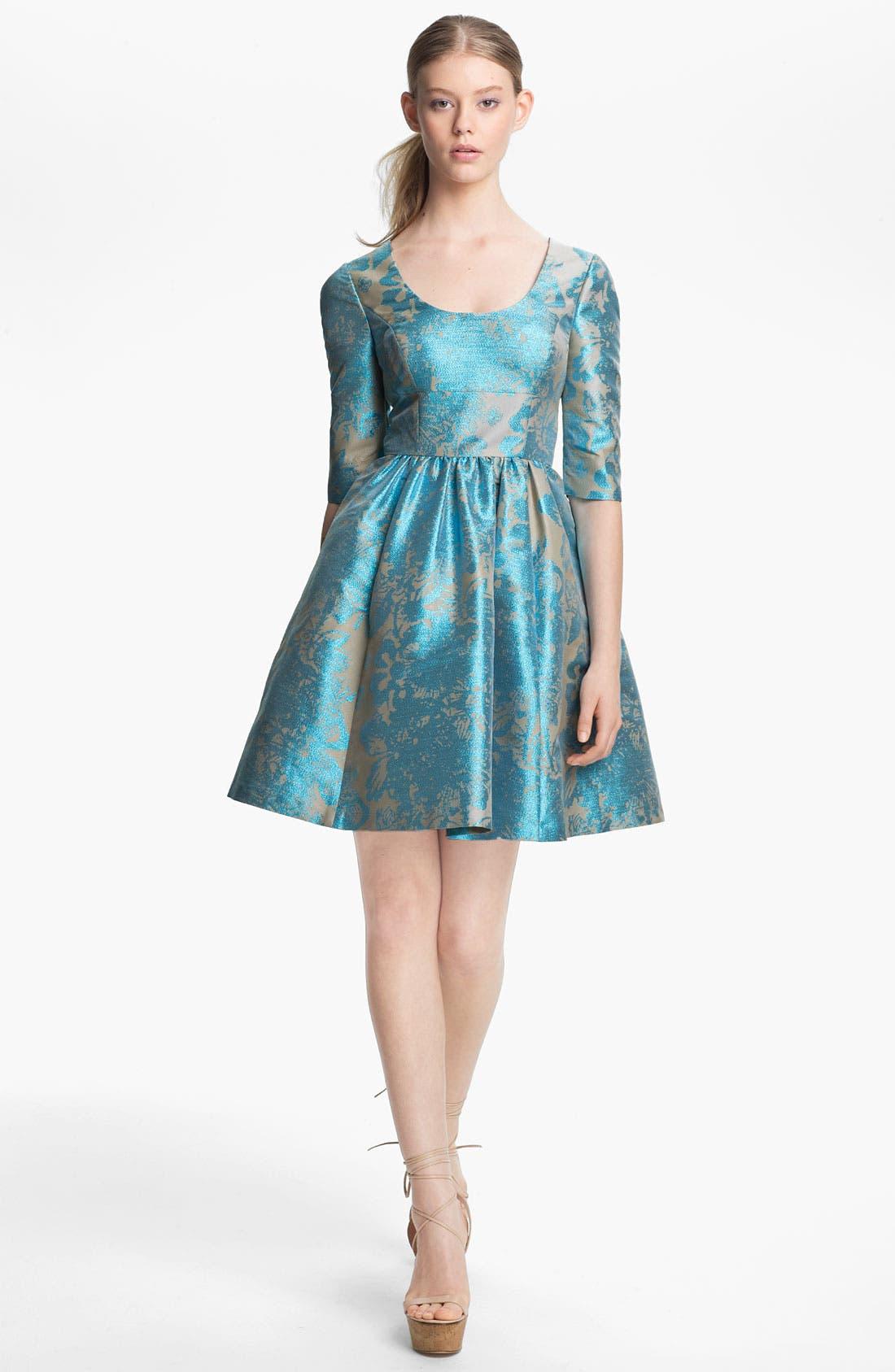 Main Image - Tracy Reese Metallic Jacquard Dress