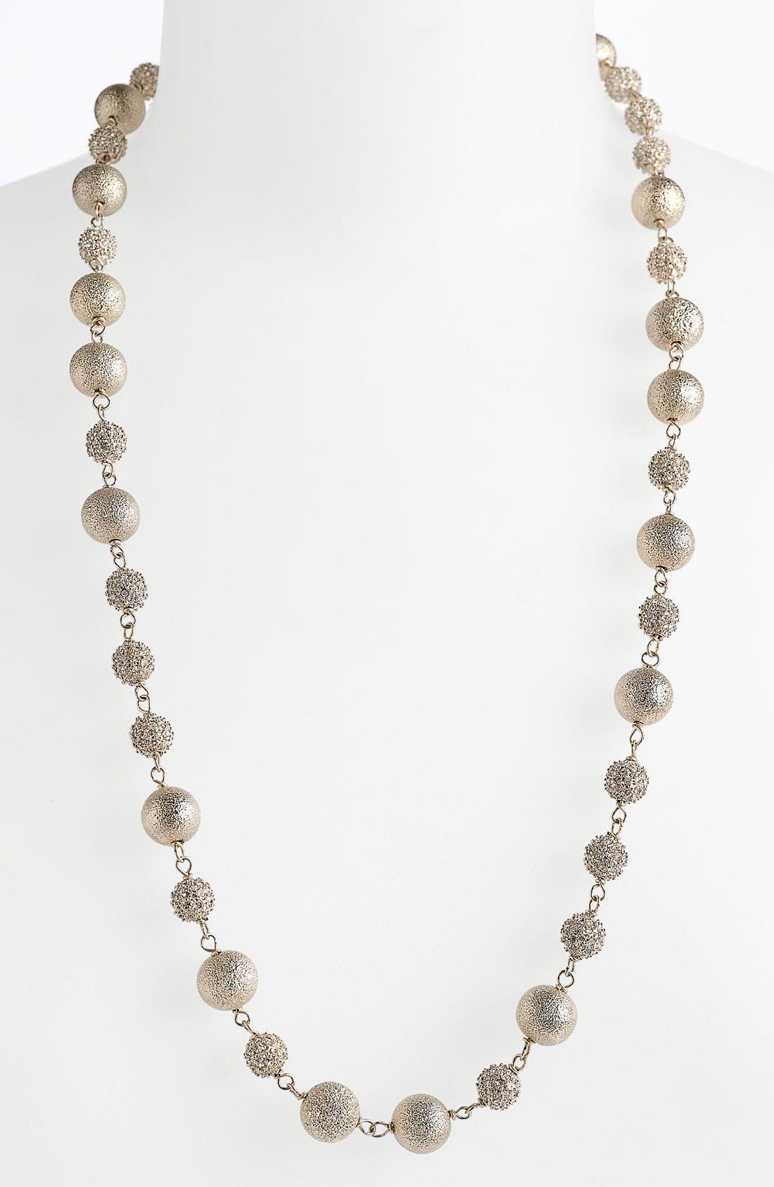 Alternate Image 1 Selected - St. John Collection Brushed Gold Short Necklace