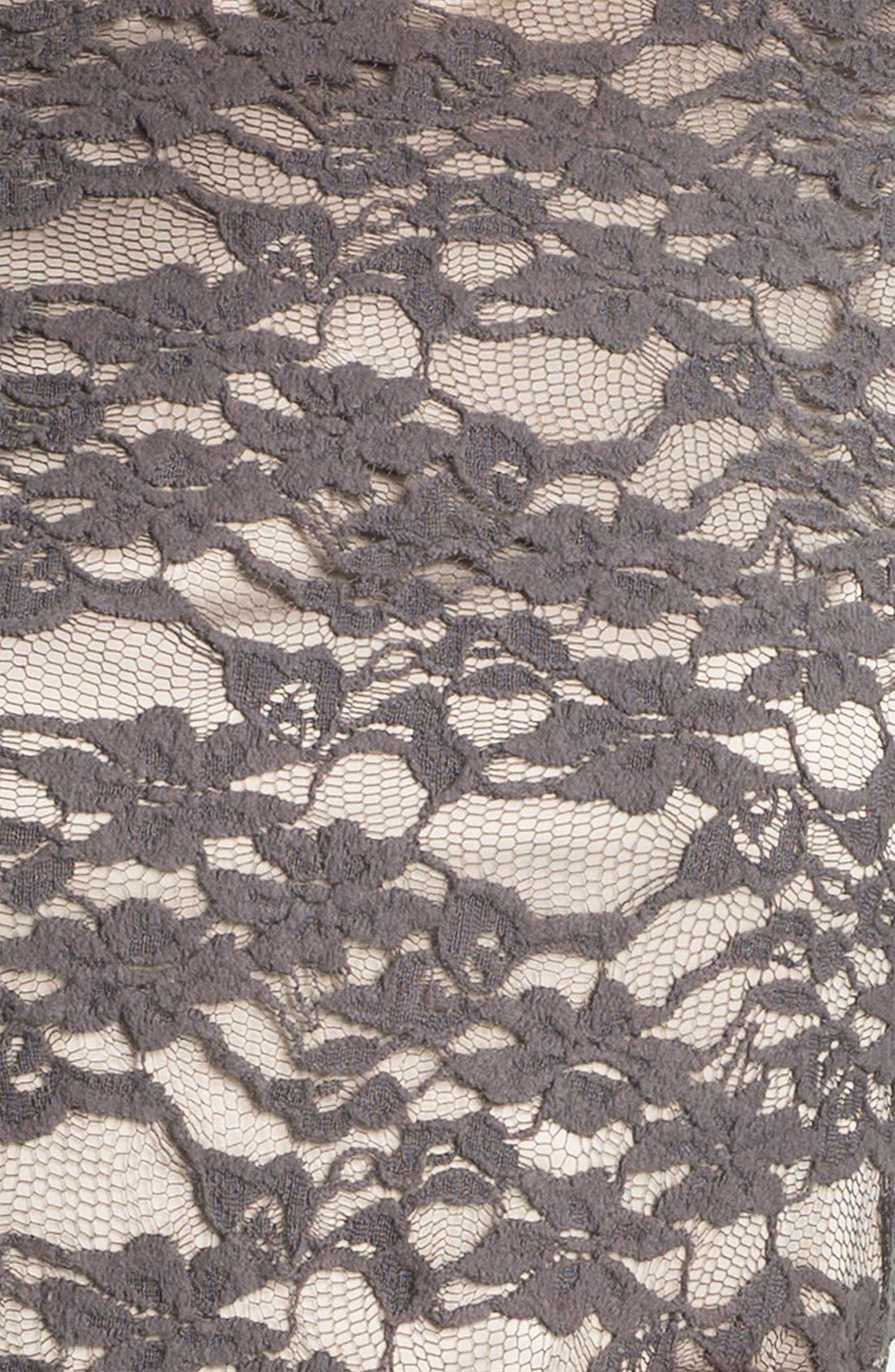 Alternate Image 3  - Eliza J Bell Sleeve Lace Overlay Sheath Dress