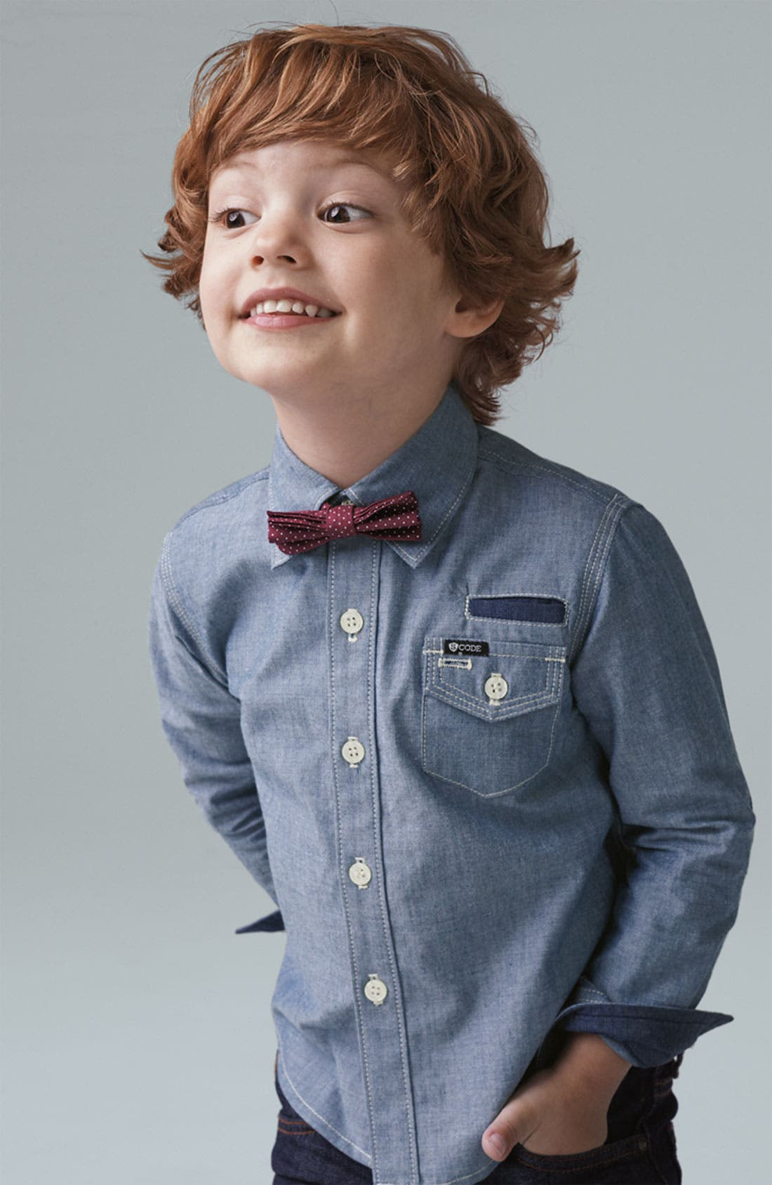 Alternate Image 2  - Sovereign Code 'Paris' Chambray Shirt (Infant)