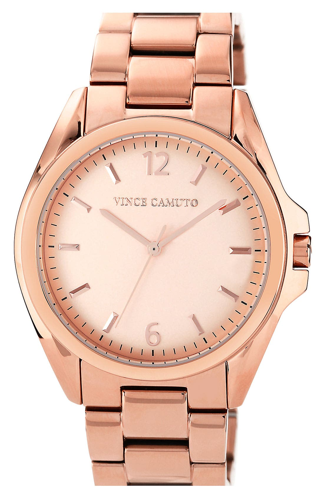 Alternate Image 1 Selected - Vince Camuto Curved Crystal Bracelet Watch, 42mm