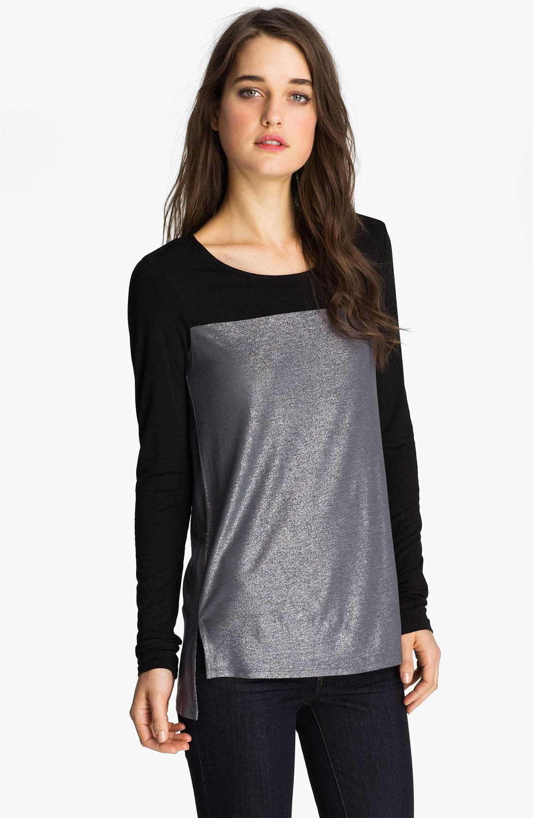 Main Image - Trouvé Colorblock Metallic Top