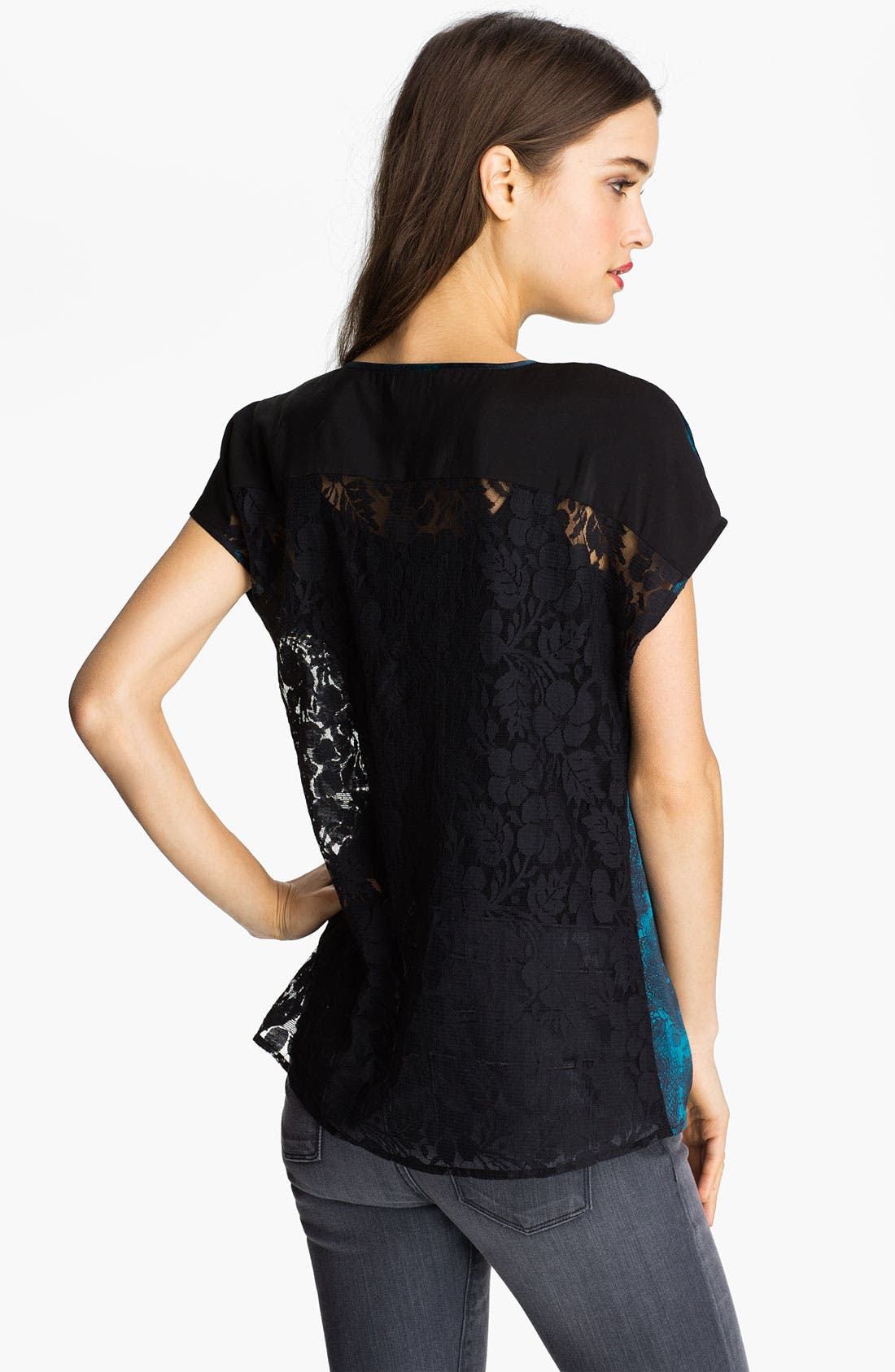 Alternate Image 2  - Hinge® Mixed Media Lace Top