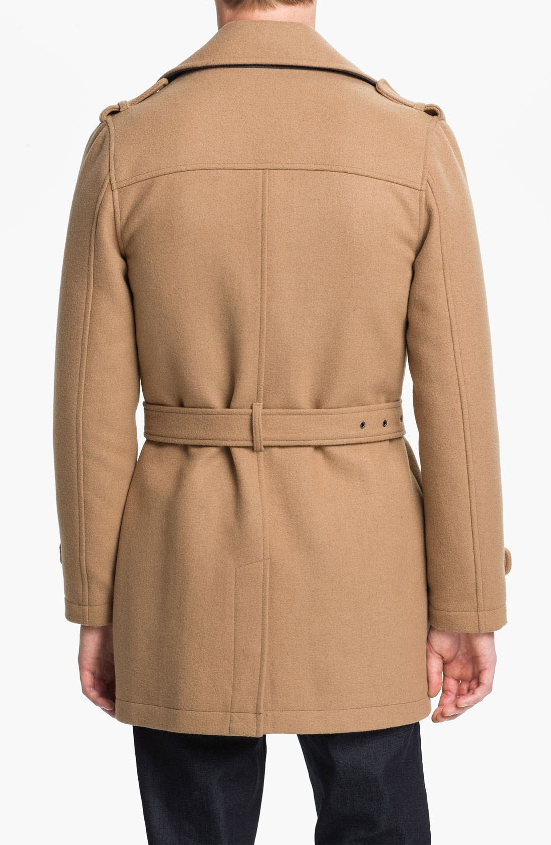 Alternate Image 2  - Topman Double Breasted Trench Coat