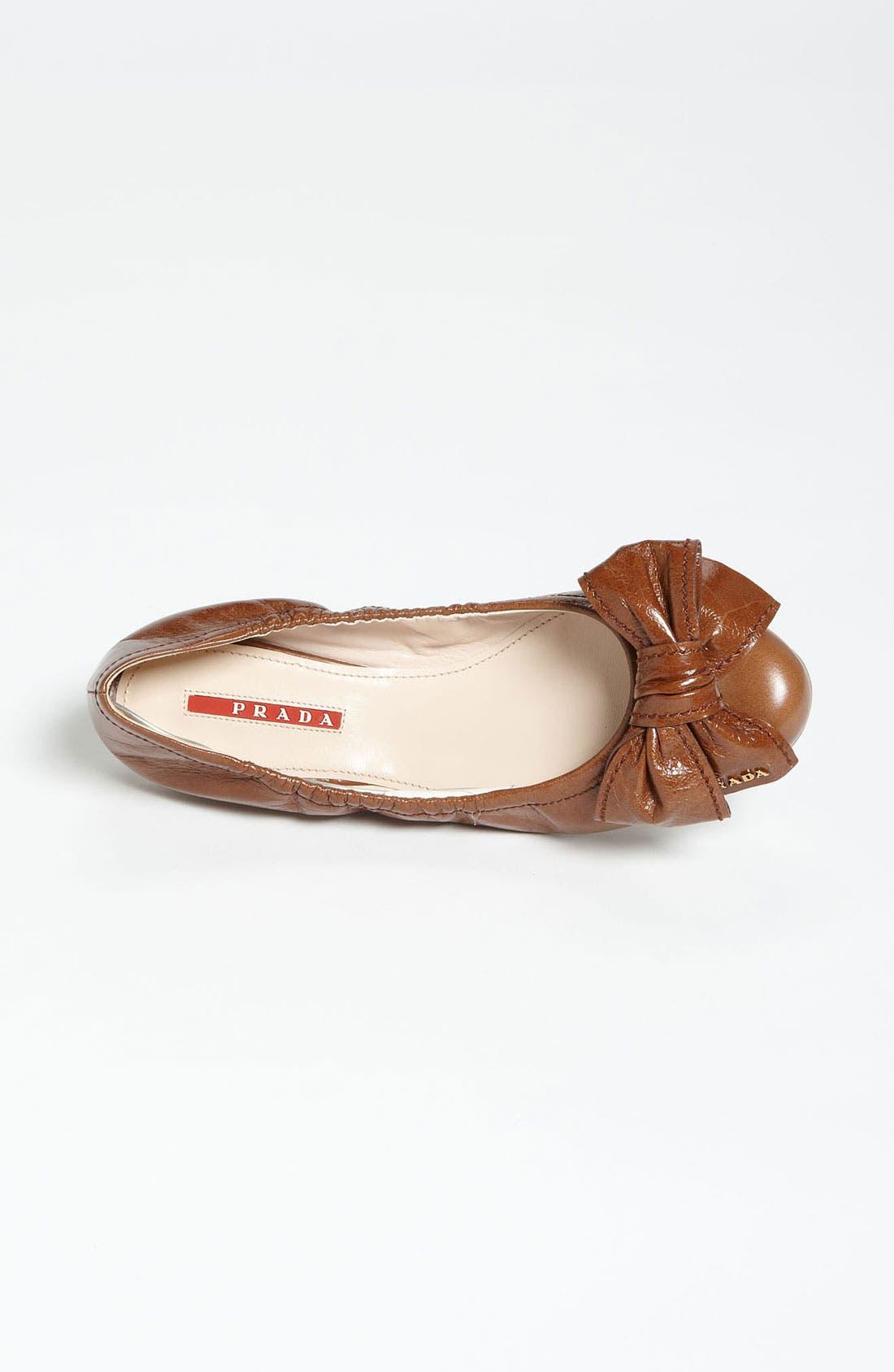 Alternate Image 3  - Prada Stitched Bow Ballet Flat