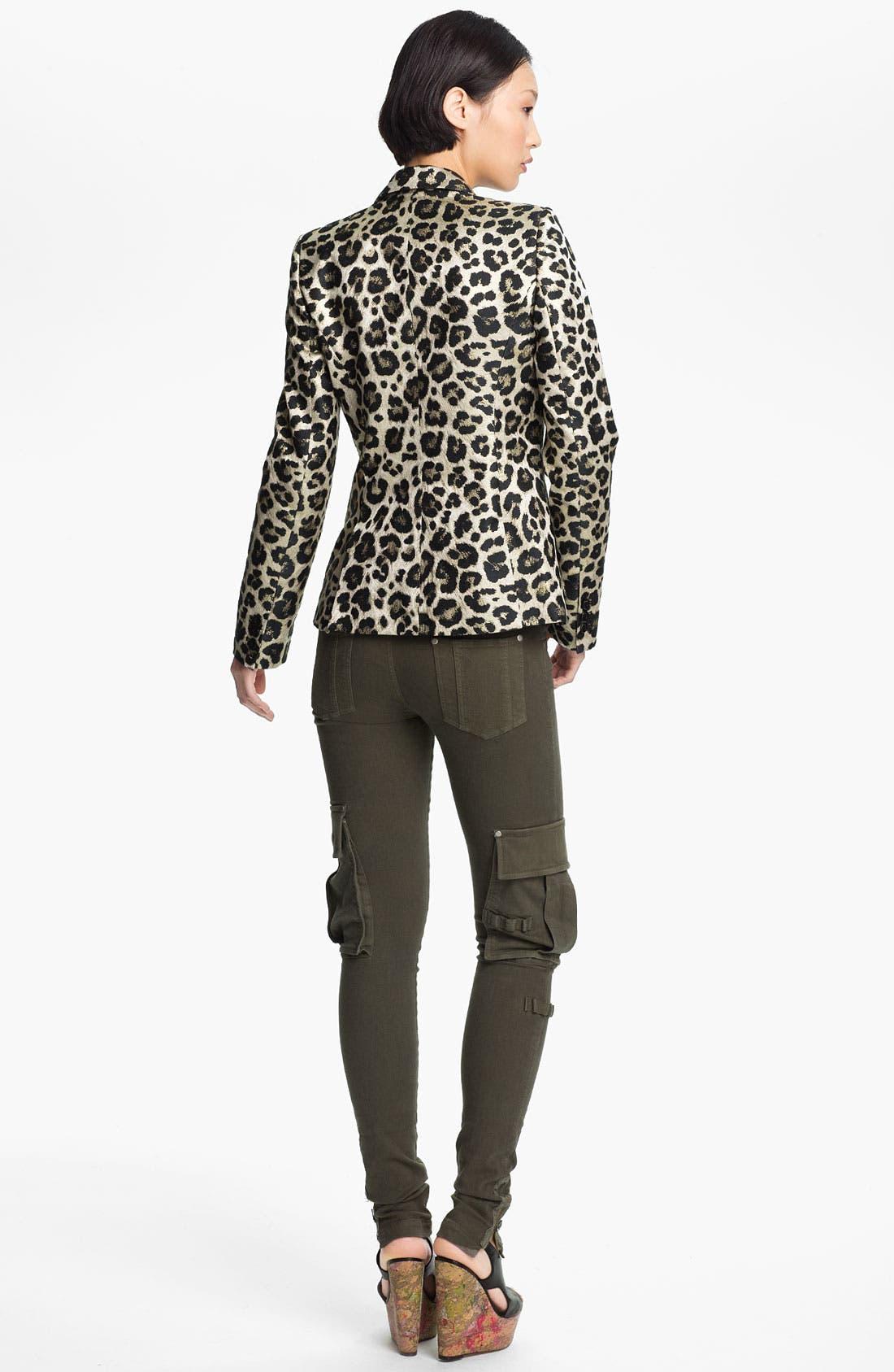 Alternate Image 2  - Alice + Olivia 'Elyse' Leopard Print Blazer