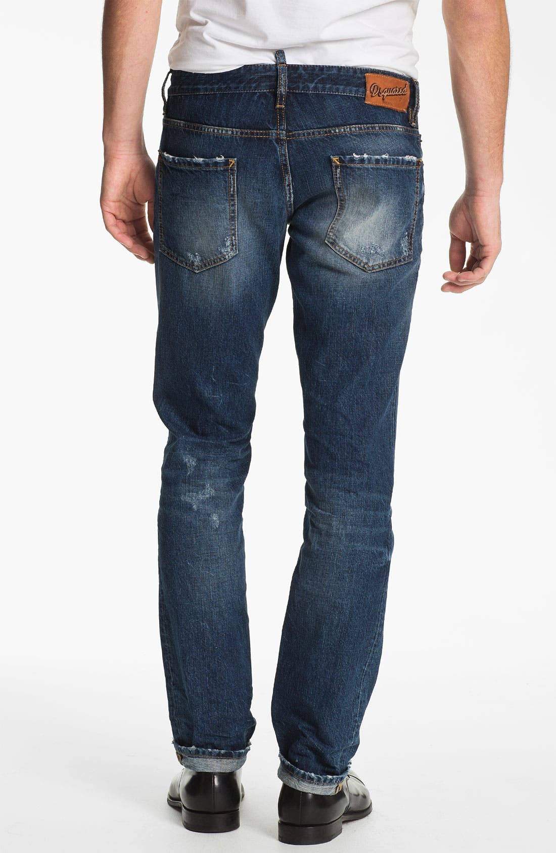 Alternate Image 2  - Dsquared2 Slim Fit Jeans (Blue)