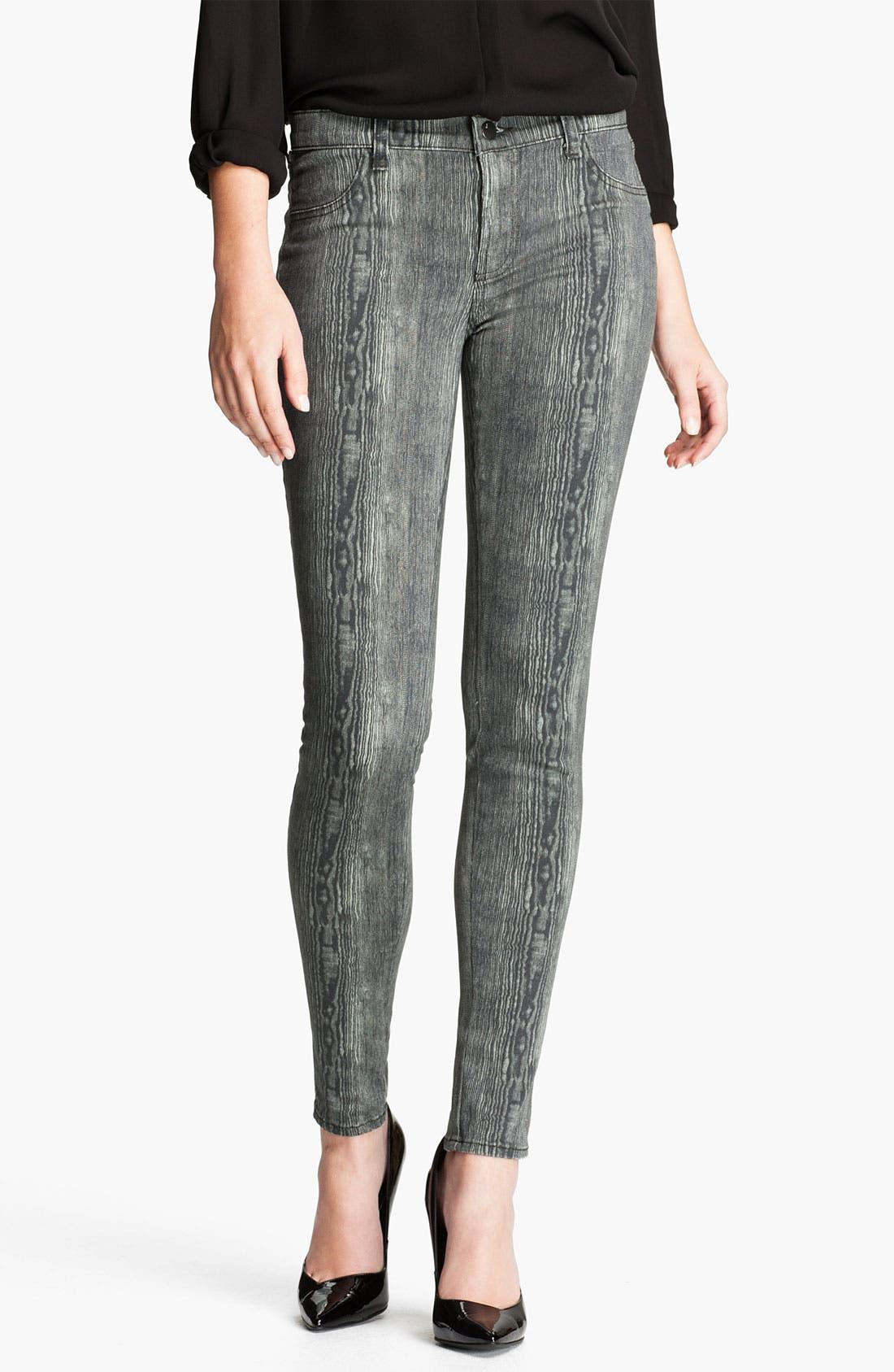 Alternate Image 1 Selected - J Brand Print Denim Leggings (Woodgrain)