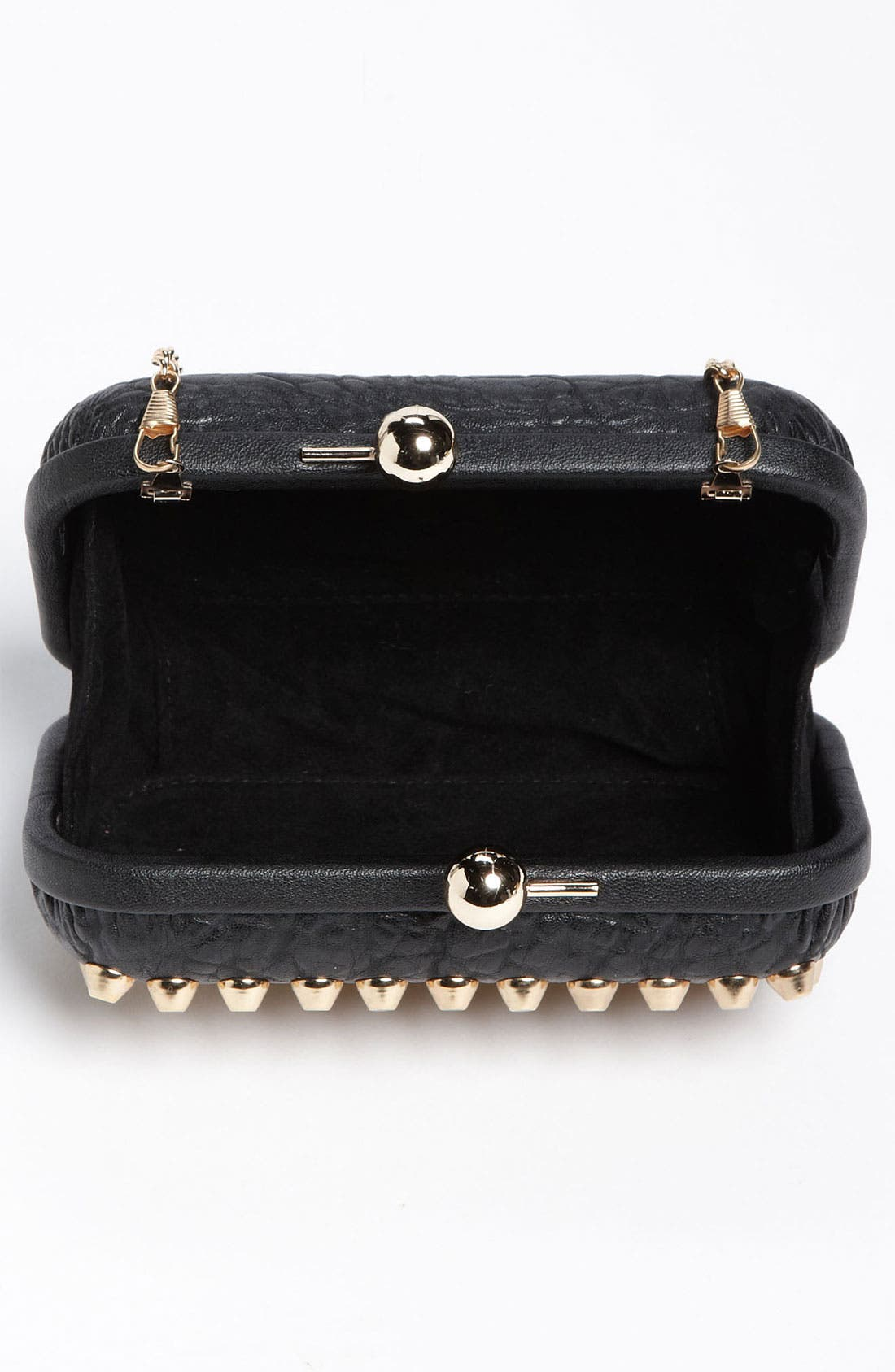 Alternate Image 3  - Street Level Studded Pillbox Clutch