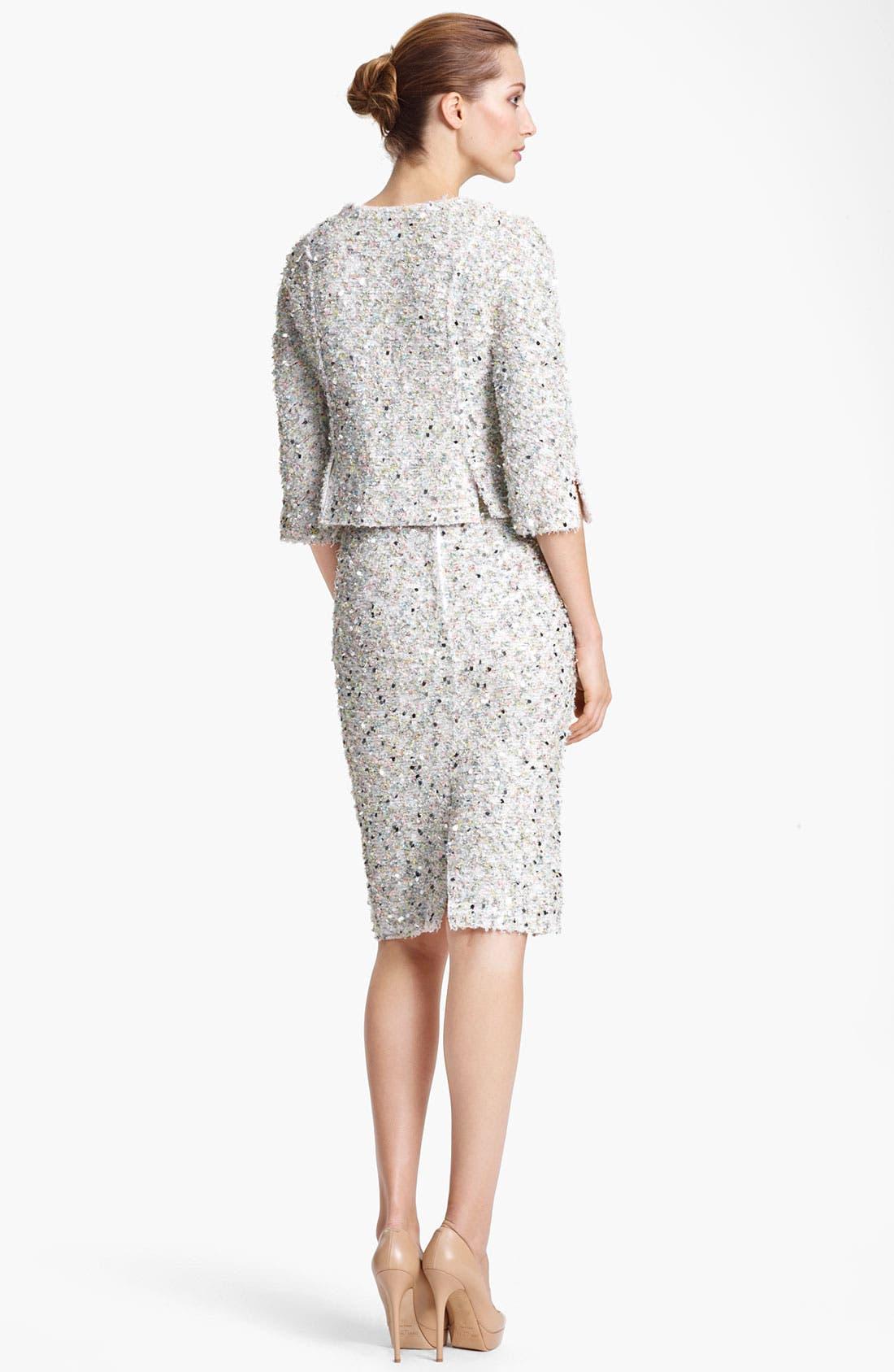 Alternate Image 2  - Nina Ricci Paillette Tweed Jacket