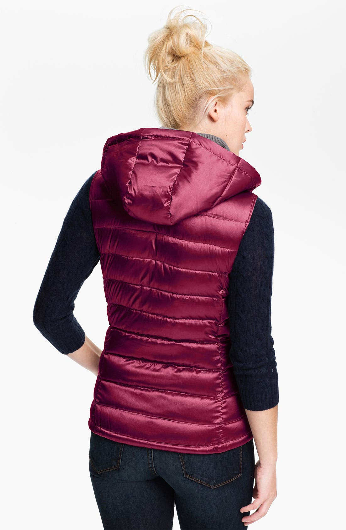 Alternate Image 2  - Bernardo Hooded Iridescent Down Vest