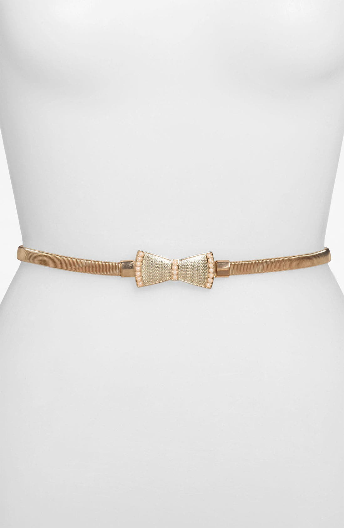Main Image - Lulu Pearl Bow Stretch Belt