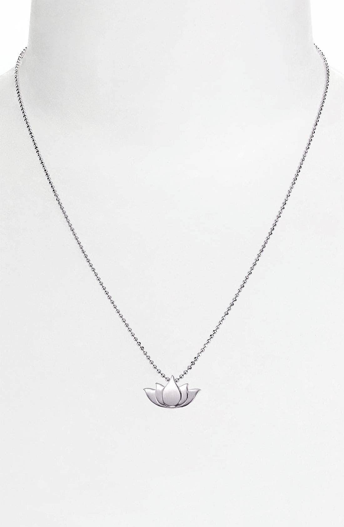 Alternate Image 3  - Alex Woo 'Little Faith' Lotus Blossom Pendant Necklace