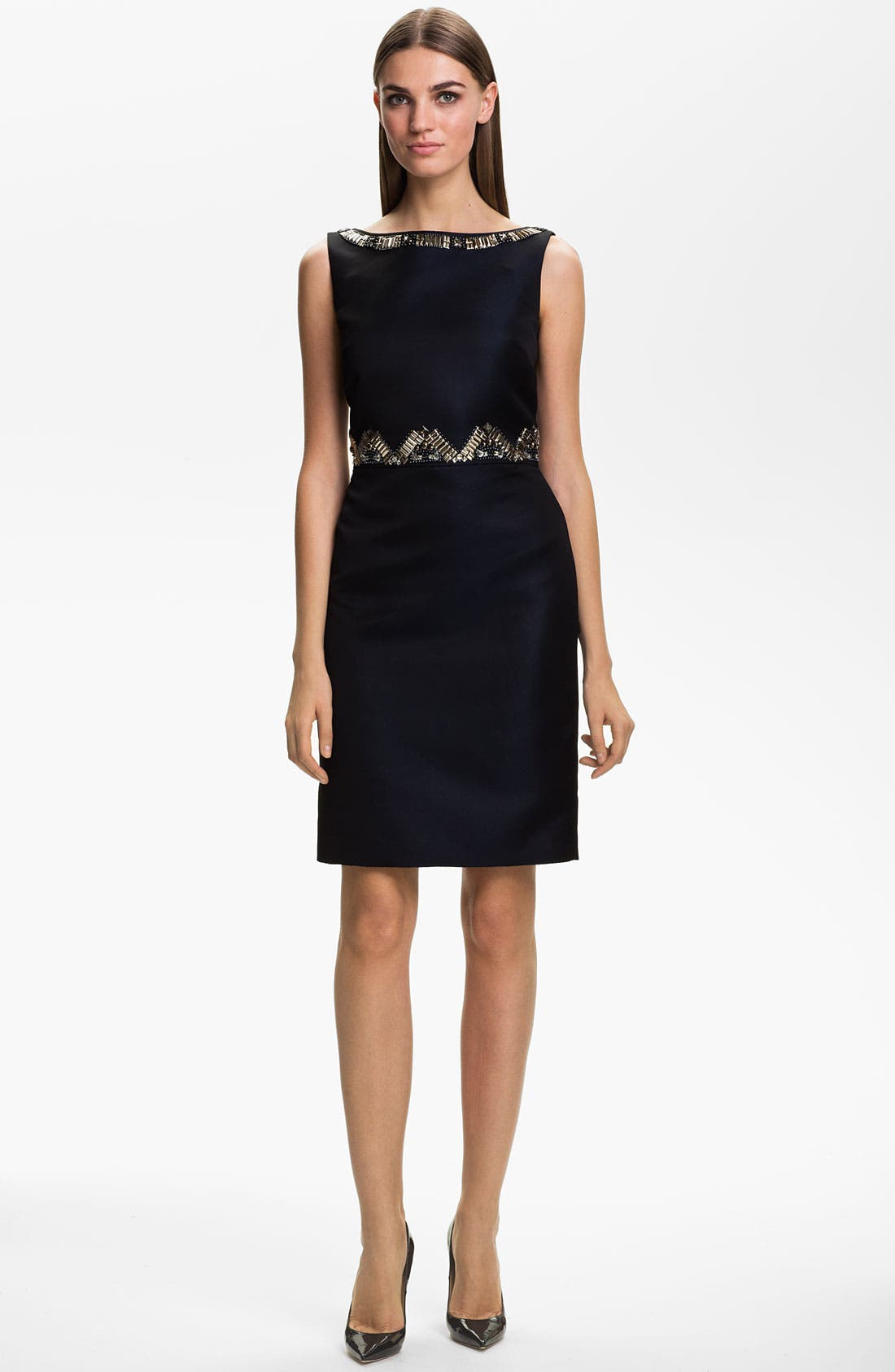 Main Image - St. John Collection Duchesse Hand Beaded Dress