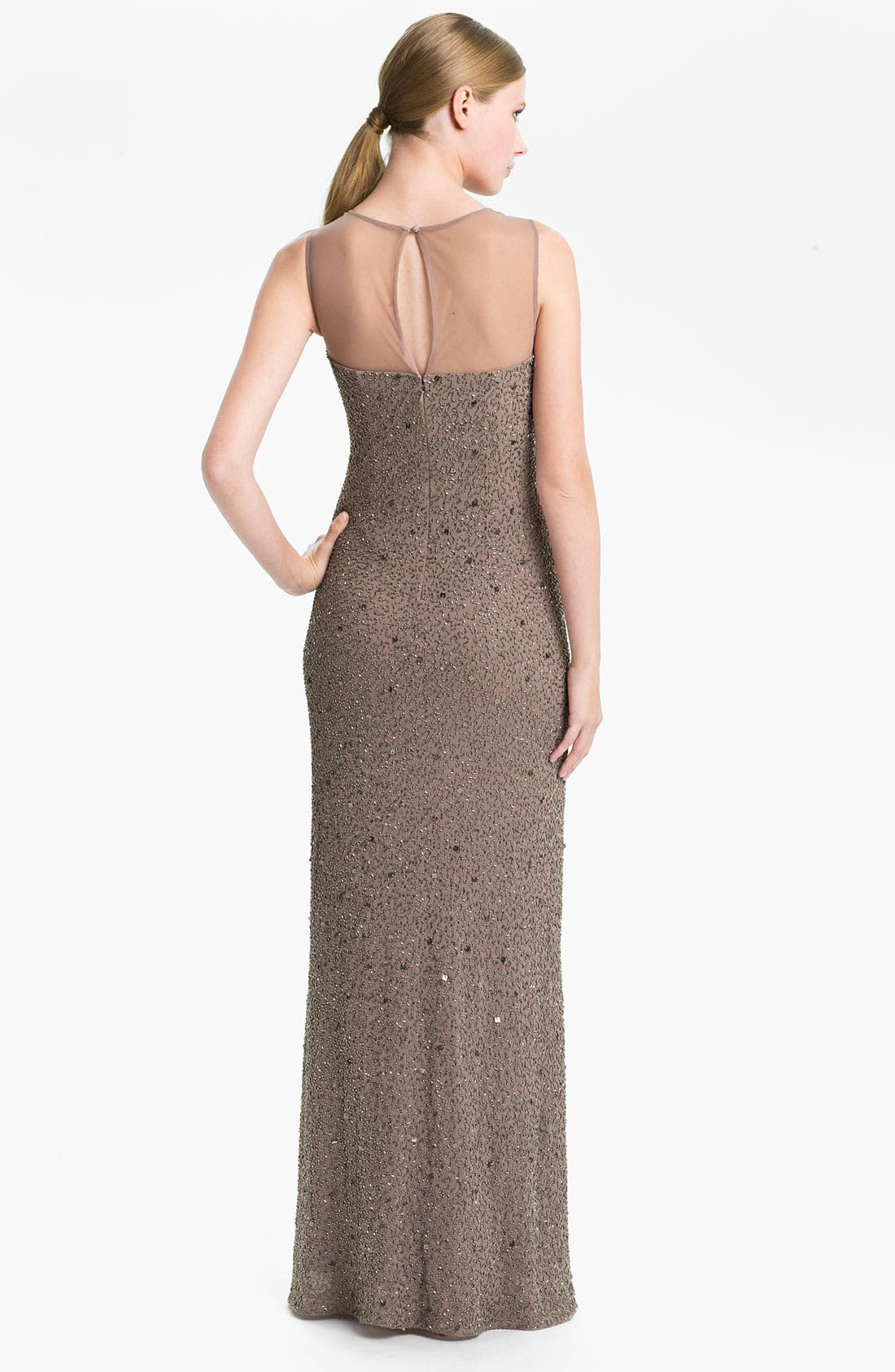 Alternate Image 2  - Adrianna Papell Illusion Yoke Embellished Chiffon Gown