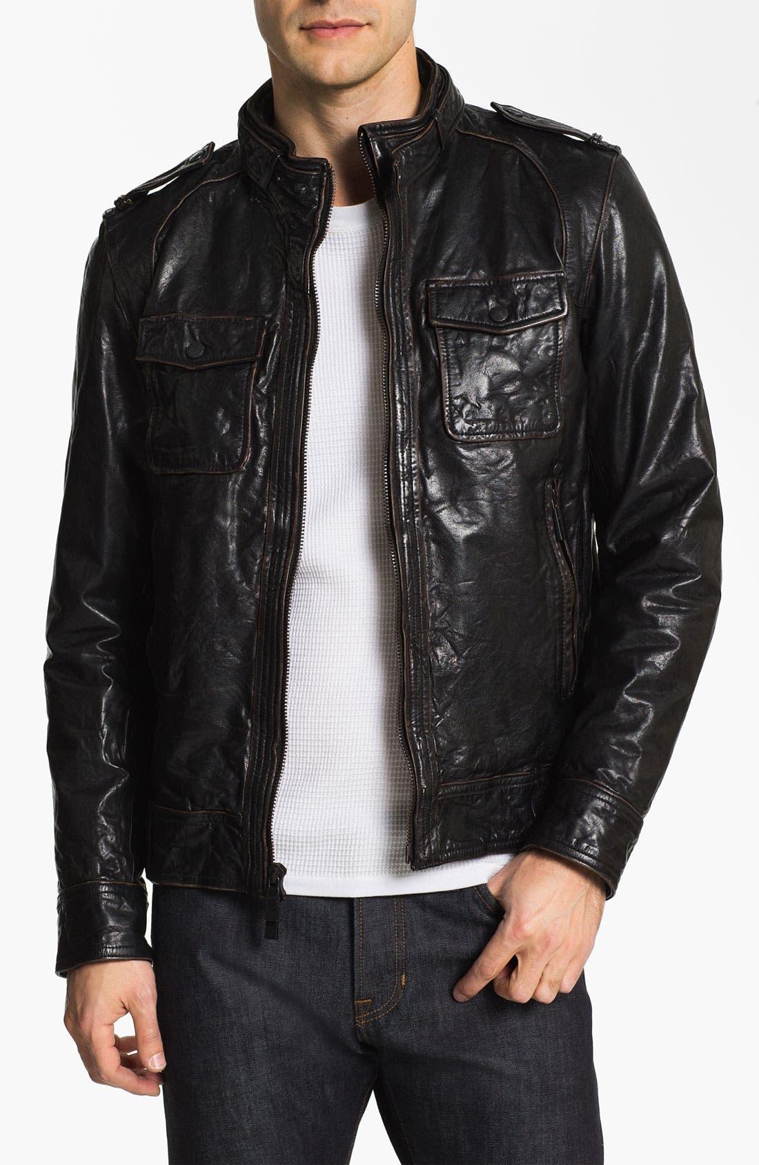 Main Image - Vince Camuto Leather Utility Jacket