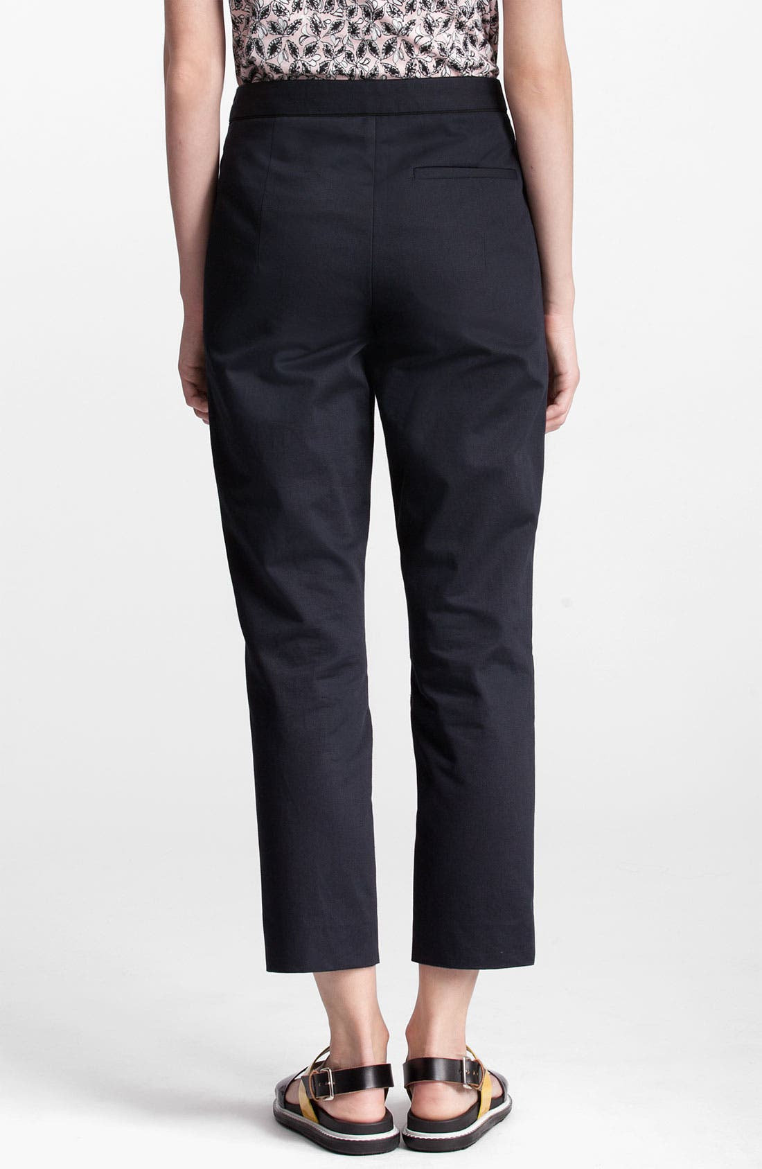 Alternate Image 2  - Marni Edition Tuxedo Trim Crop Pants