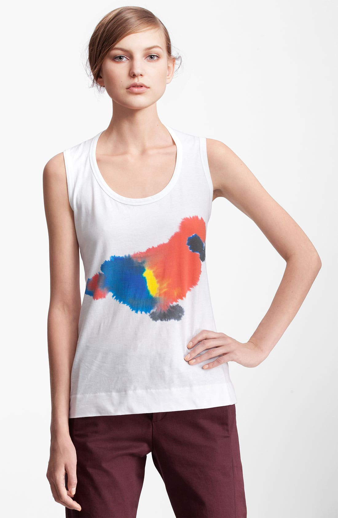 Alternate Image 1 Selected - Marni Edition Parrot Print Tank