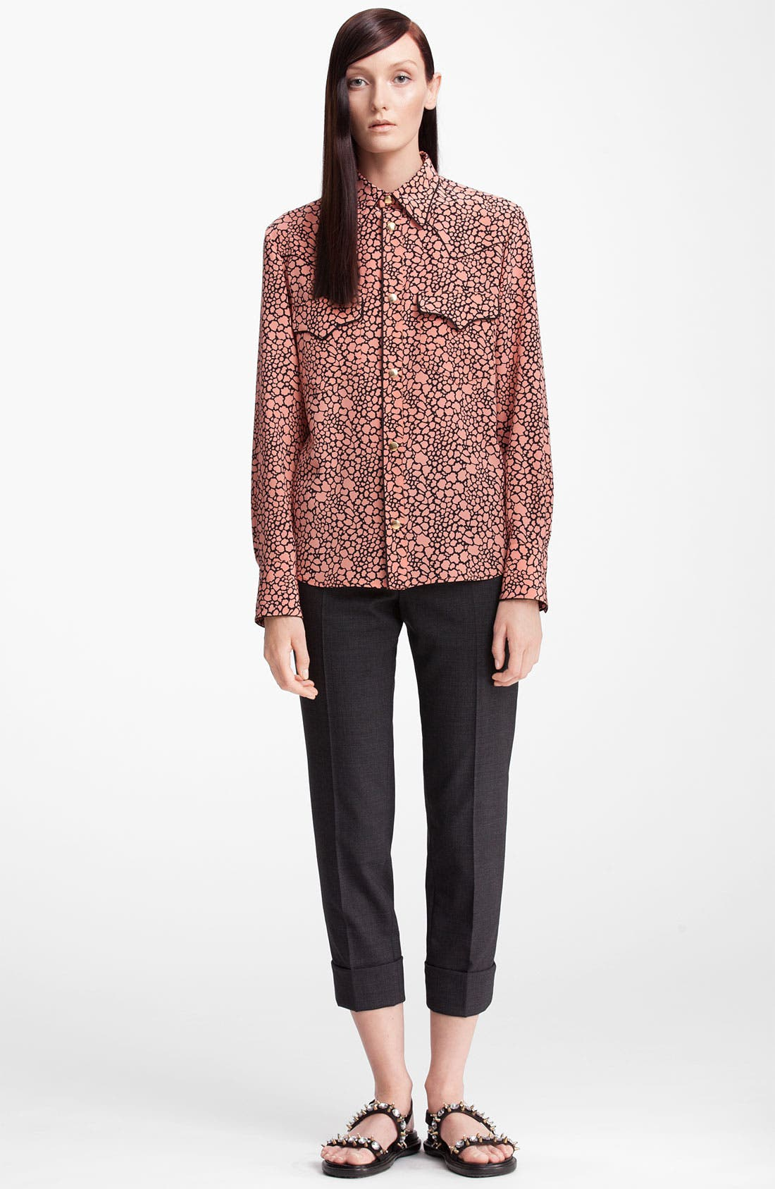 Alternate Image 3  - Marni Cellular Print Silk Blouse