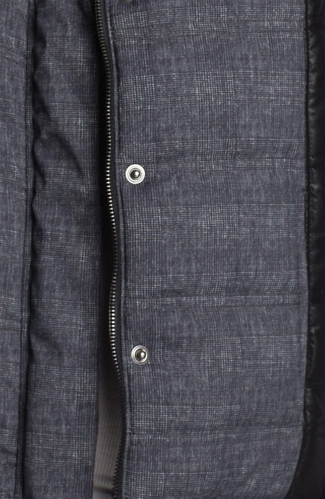 Alternate Image 3  - Trouvé Colorblock Plaid Puffy Vest