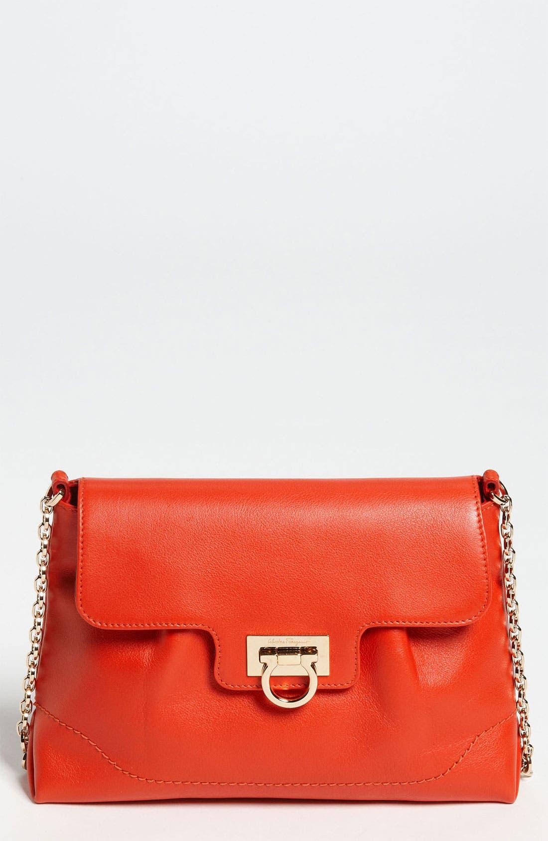 Alternate Image 1 Selected - Salvatore Ferragamo 'Amelie' Leather Shoulder Bag