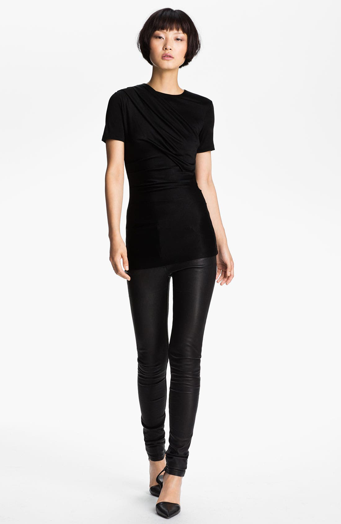 Alternate Image 1 Selected - T by Alexander Wang Piqué Double Knit Tee