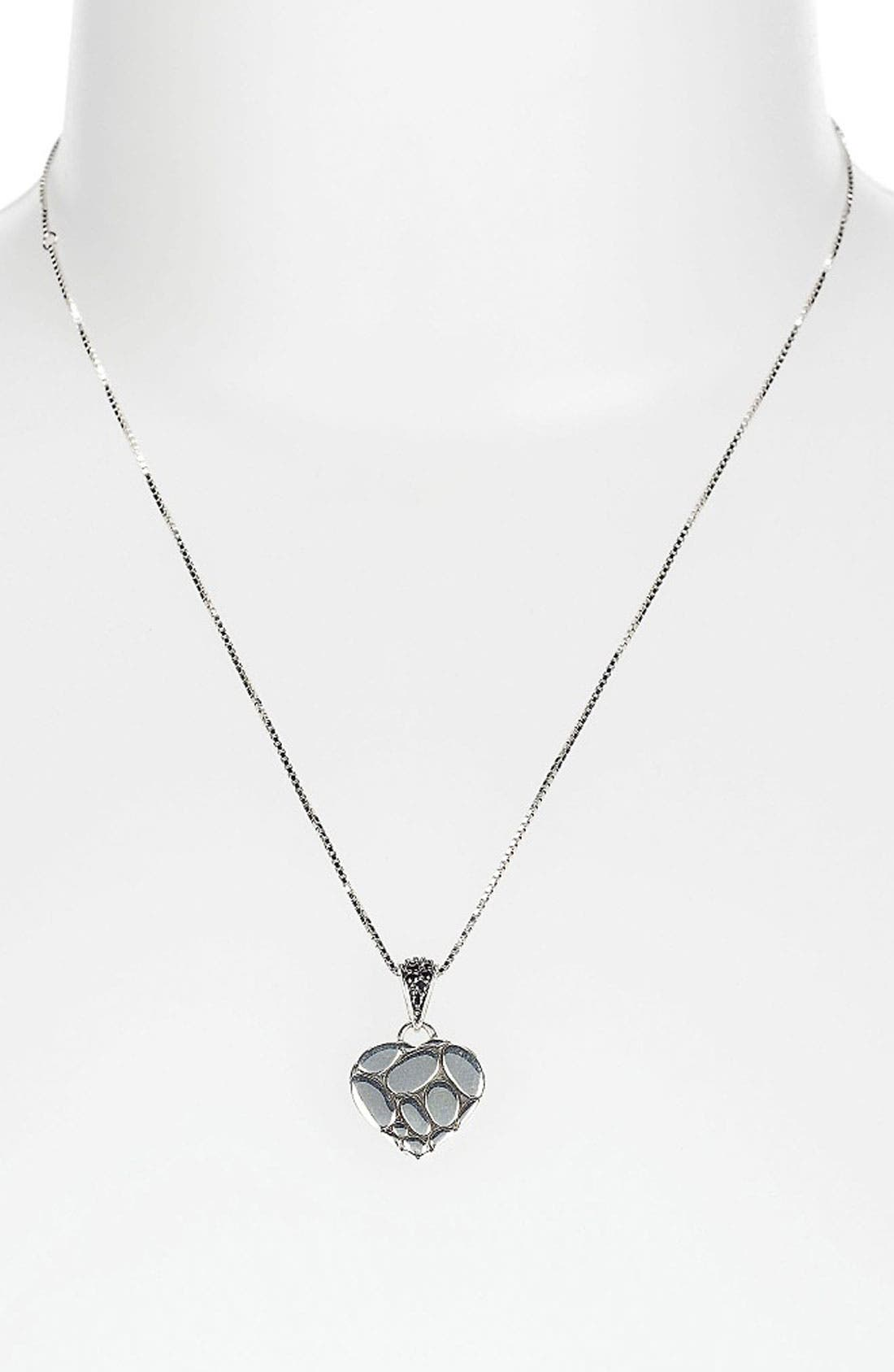 Alternate Image 1 Selected - John Hardy 'Kali Silver Lava' Boxed Heart Pendant Necklace (Nordstrom Exclusive)