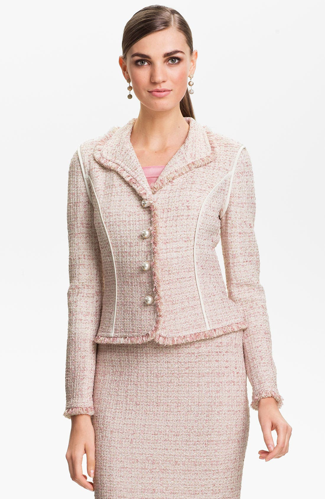 Alternate Image 1 Selected - St. John Collection Eyelash Shimmer Tweed Jacket