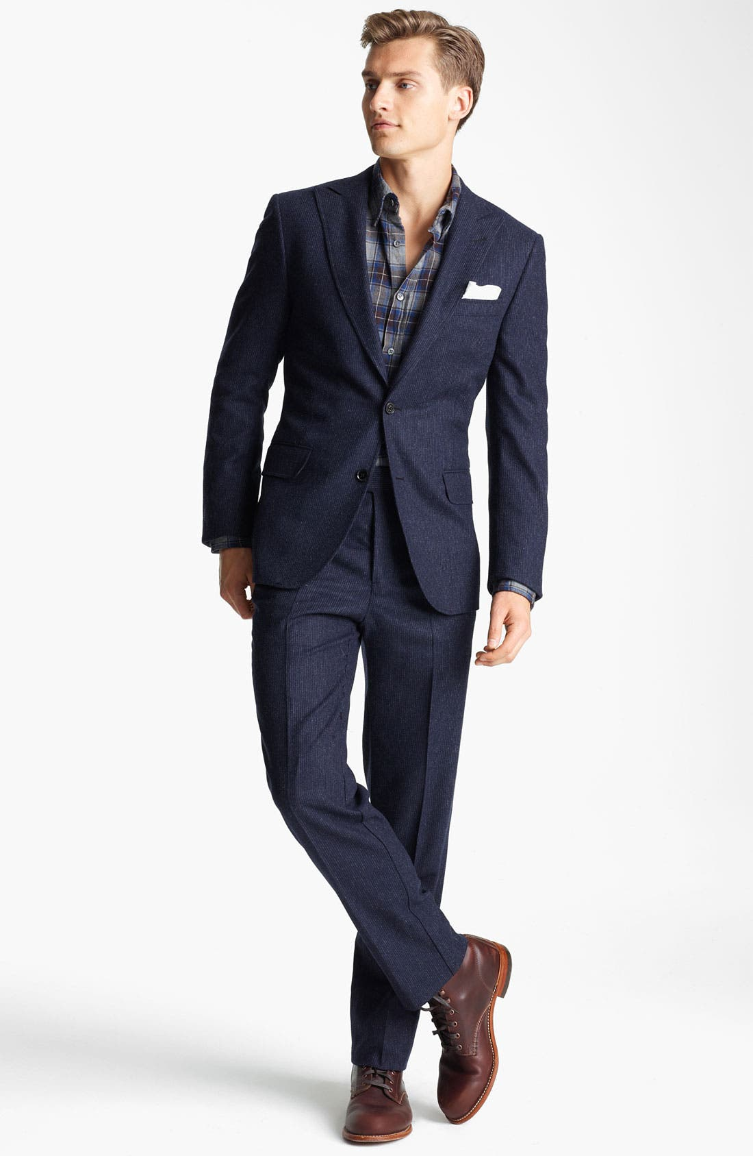 Alternate Image 2  - Billy Reid 'Campbell - Heirloom Collection' Chalk Stripe Wool Suit