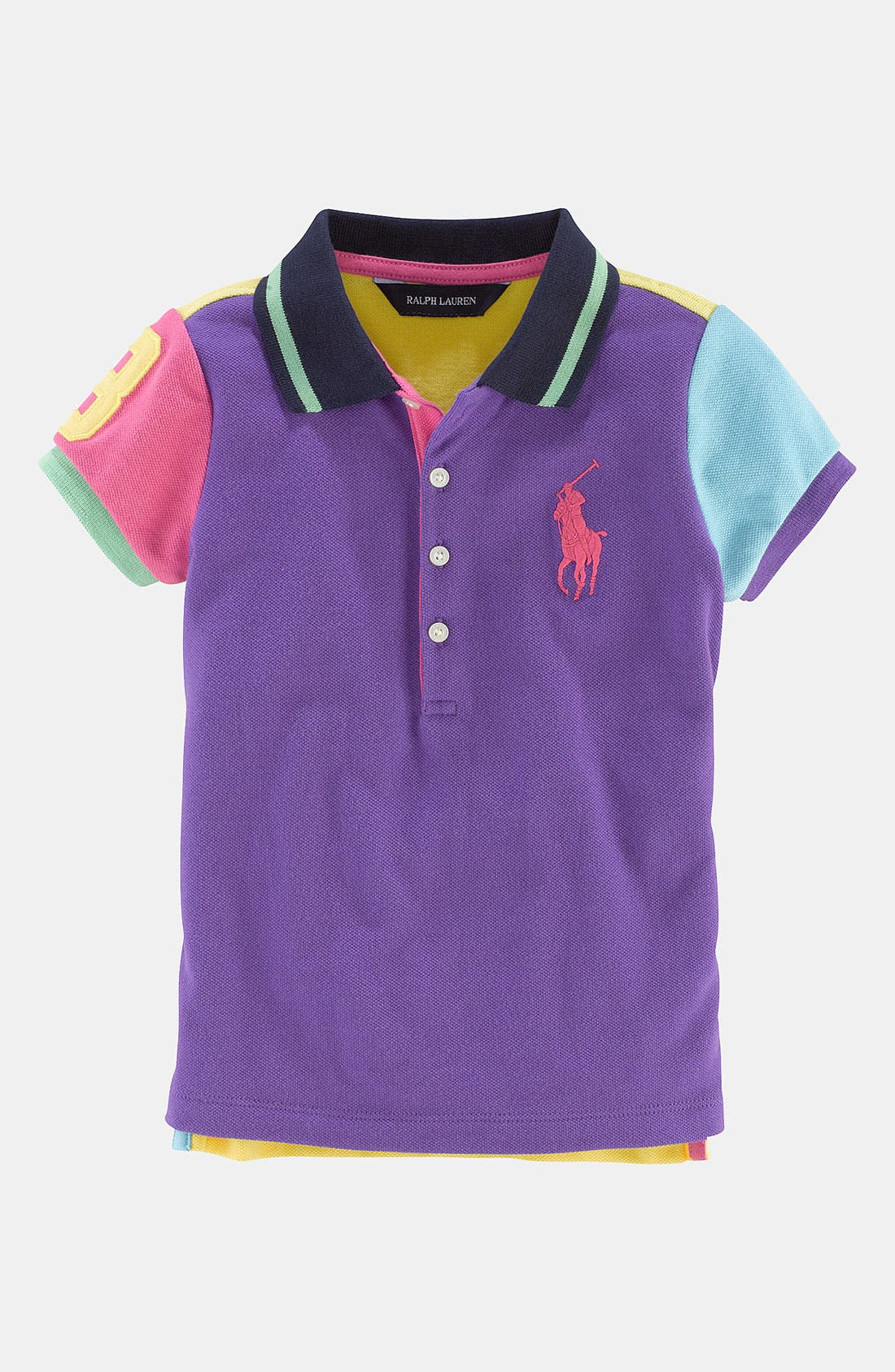 Alternate Image 1 Selected - Ralph Lauren Colorblock Polo (Toddler)