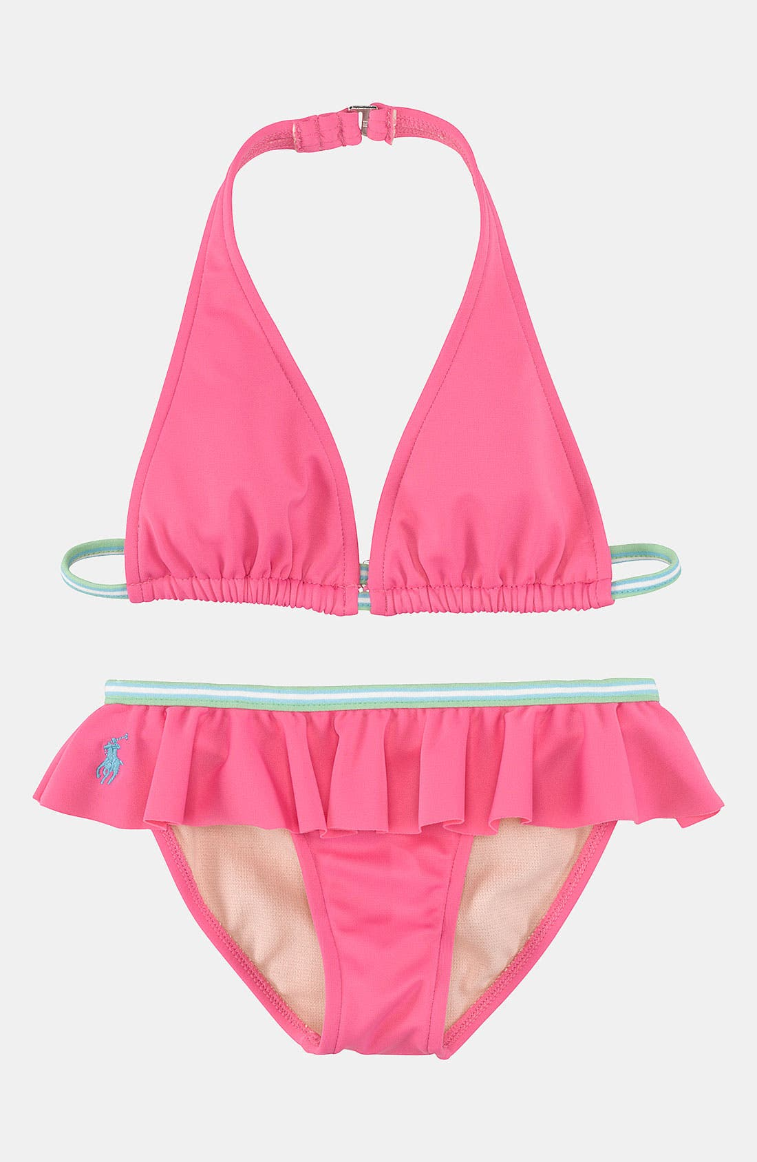 Main Image - Ralph Lauren Two Piece Swimsuit (Toddler)