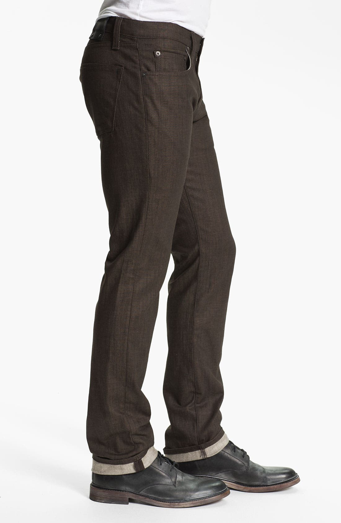 Alternate Image 3  - J Brand 'Kane' Slim Straight Leg Jeans (Flex Raw Scotch)