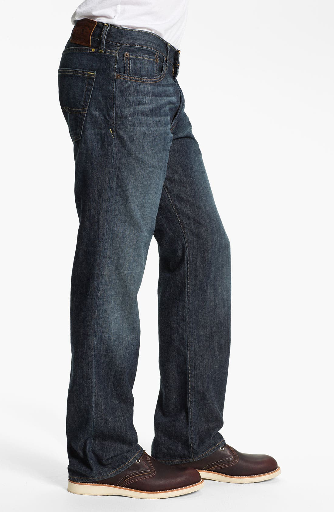 Alternate Image 3  - Lucky Brand '361 Vintage' Straight Leg Jeans (Dark Bordeaux)